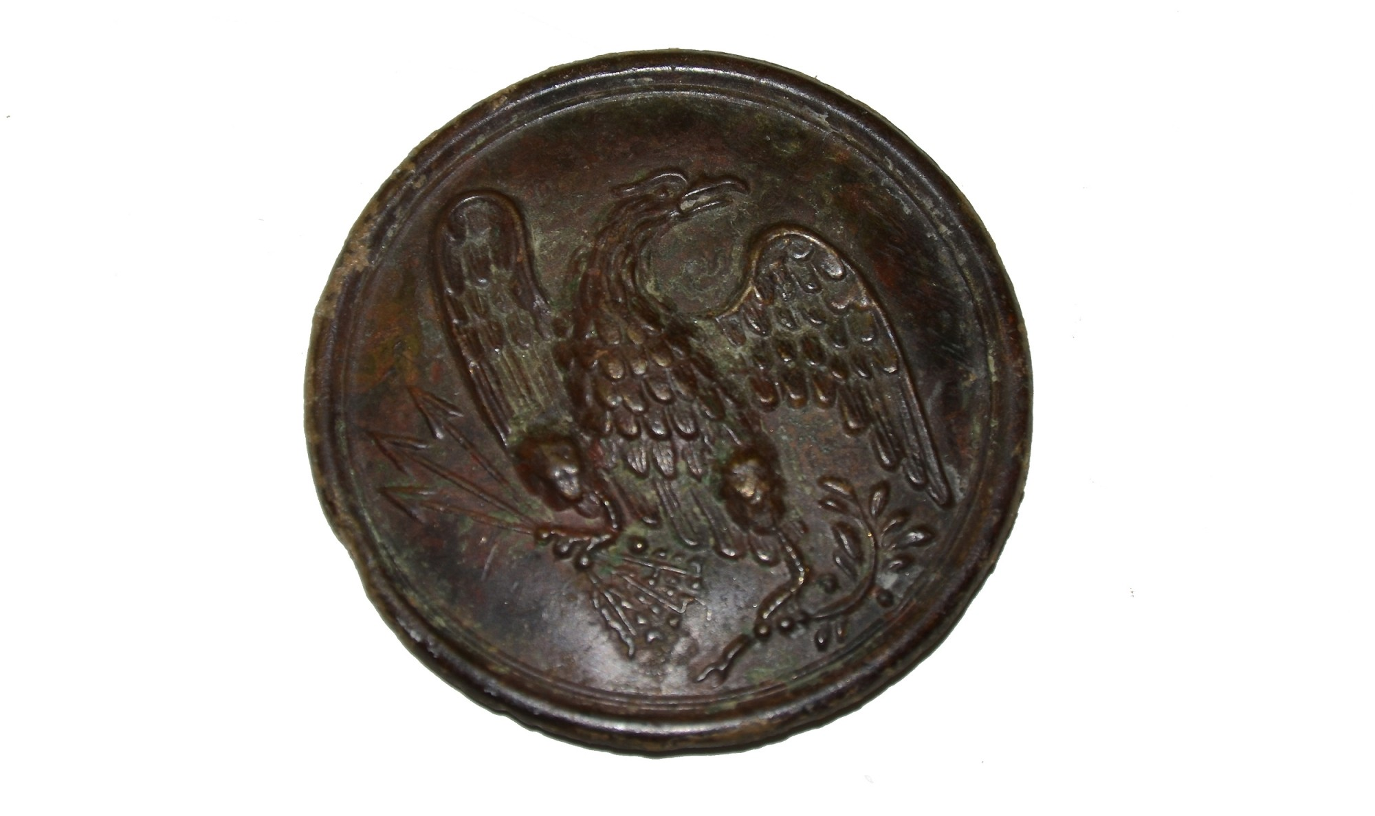 EAGLE BREAST PLATE RECOVERED AT MONOCACY, MARYLAND