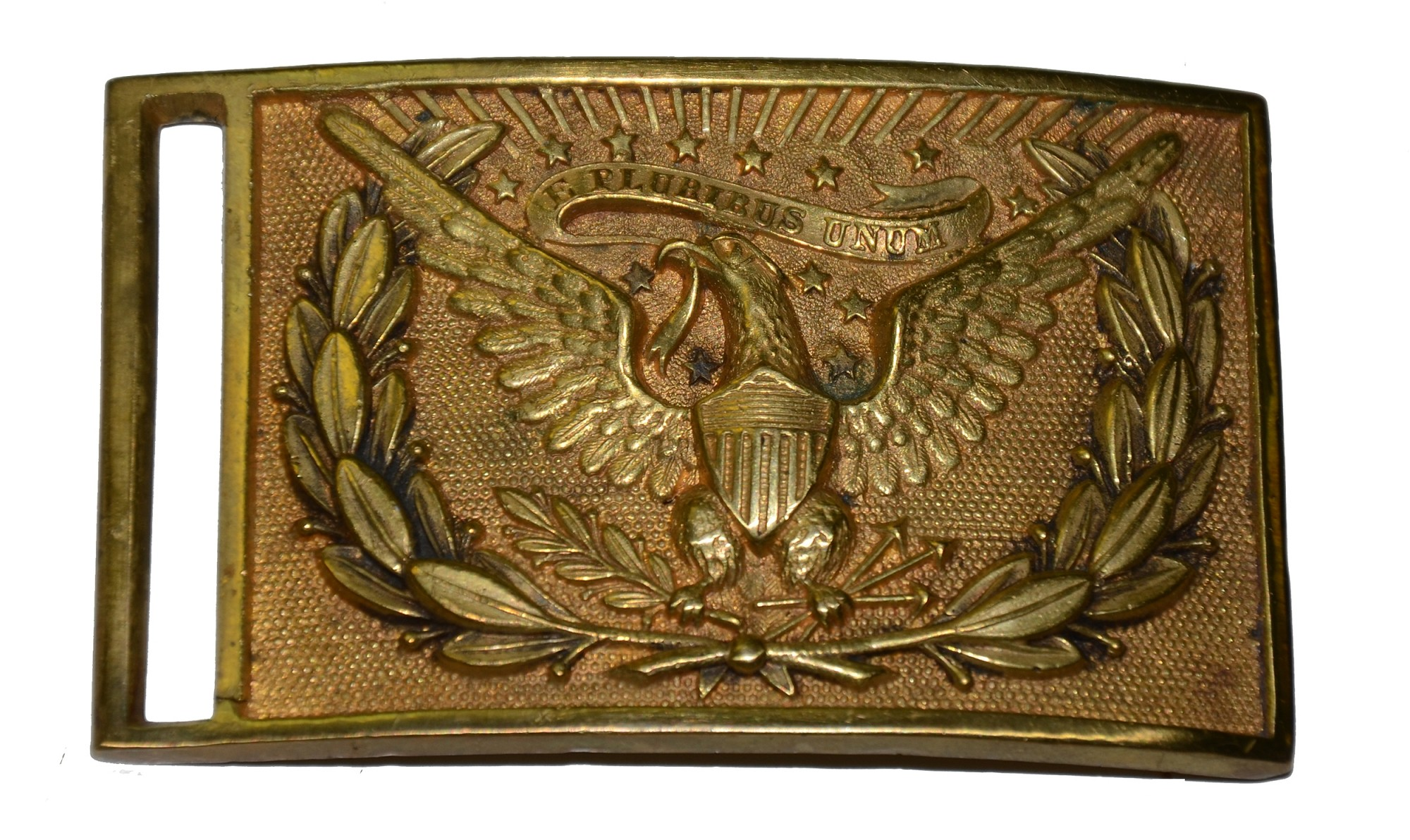 US MODEL 1851 OFFICER'S BELT PLATE WITH REGIMENTAL ID