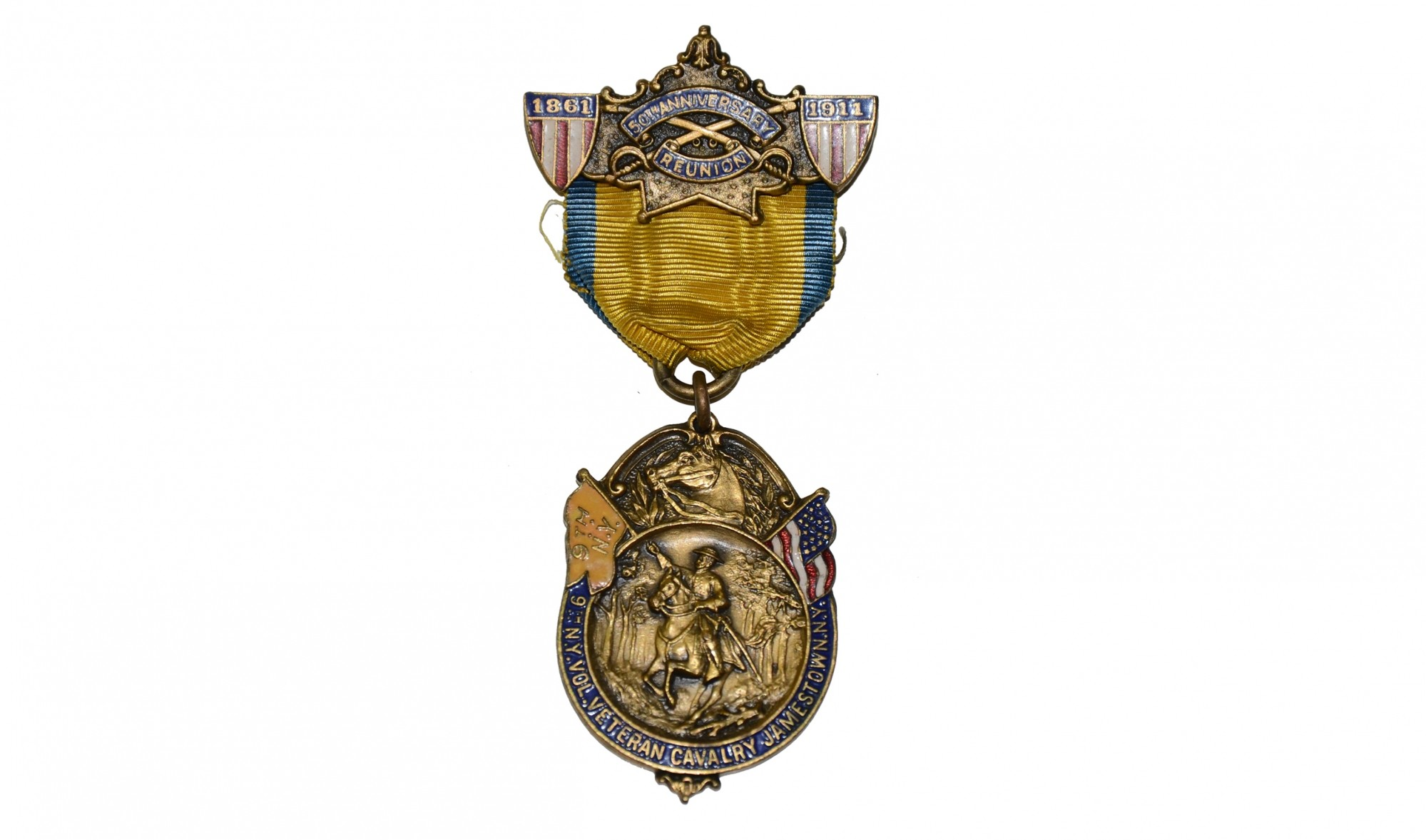 1911 BADGE FOR THE 9TH NEW YORK CAVALRY