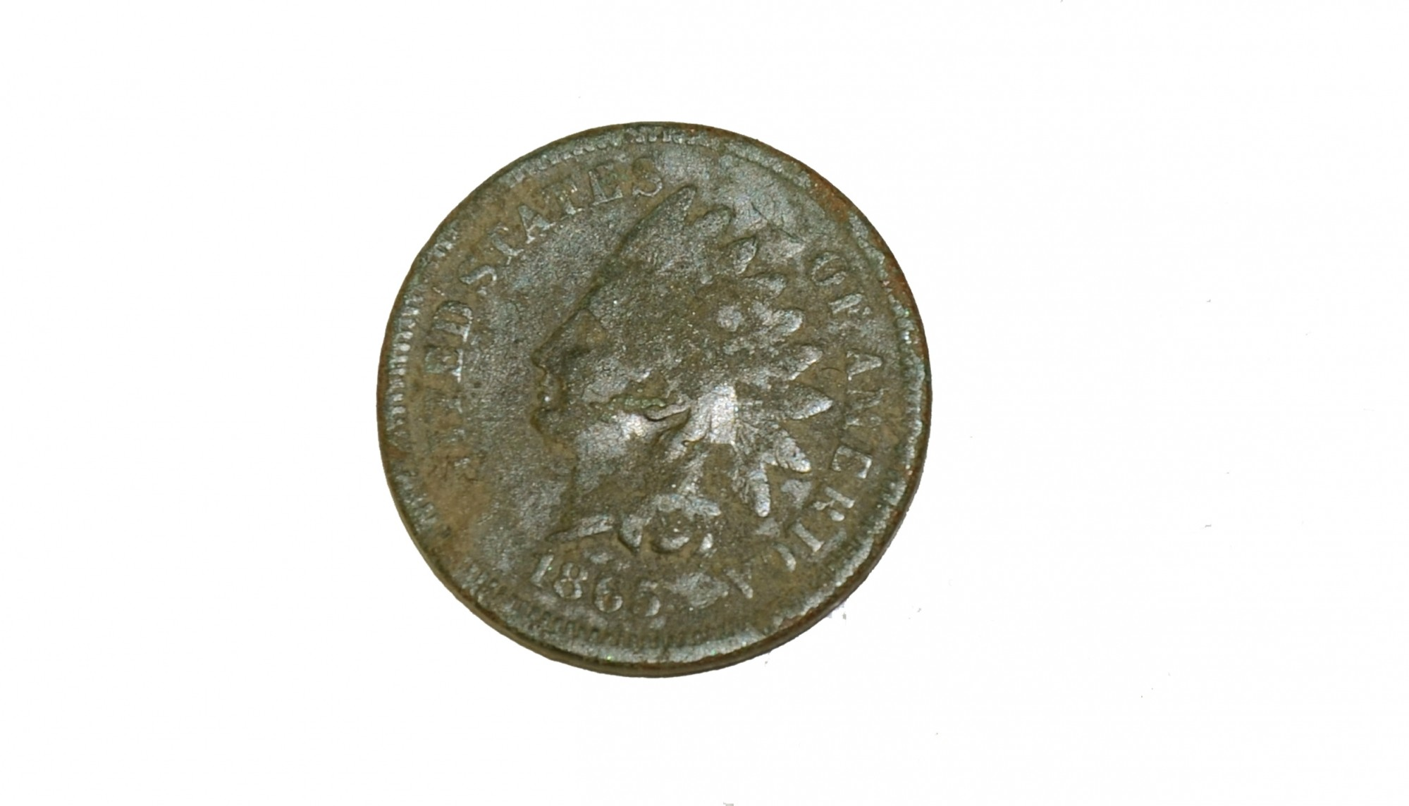 INDIAN HEAD PENNY, DATED 1865, RECOVERED FROM TROSTLE FARM, GETTYSBURG