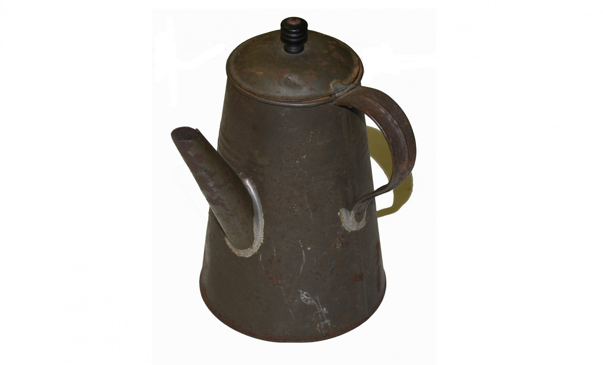 TIN COFFEE POT, CIVIL WAR ERA