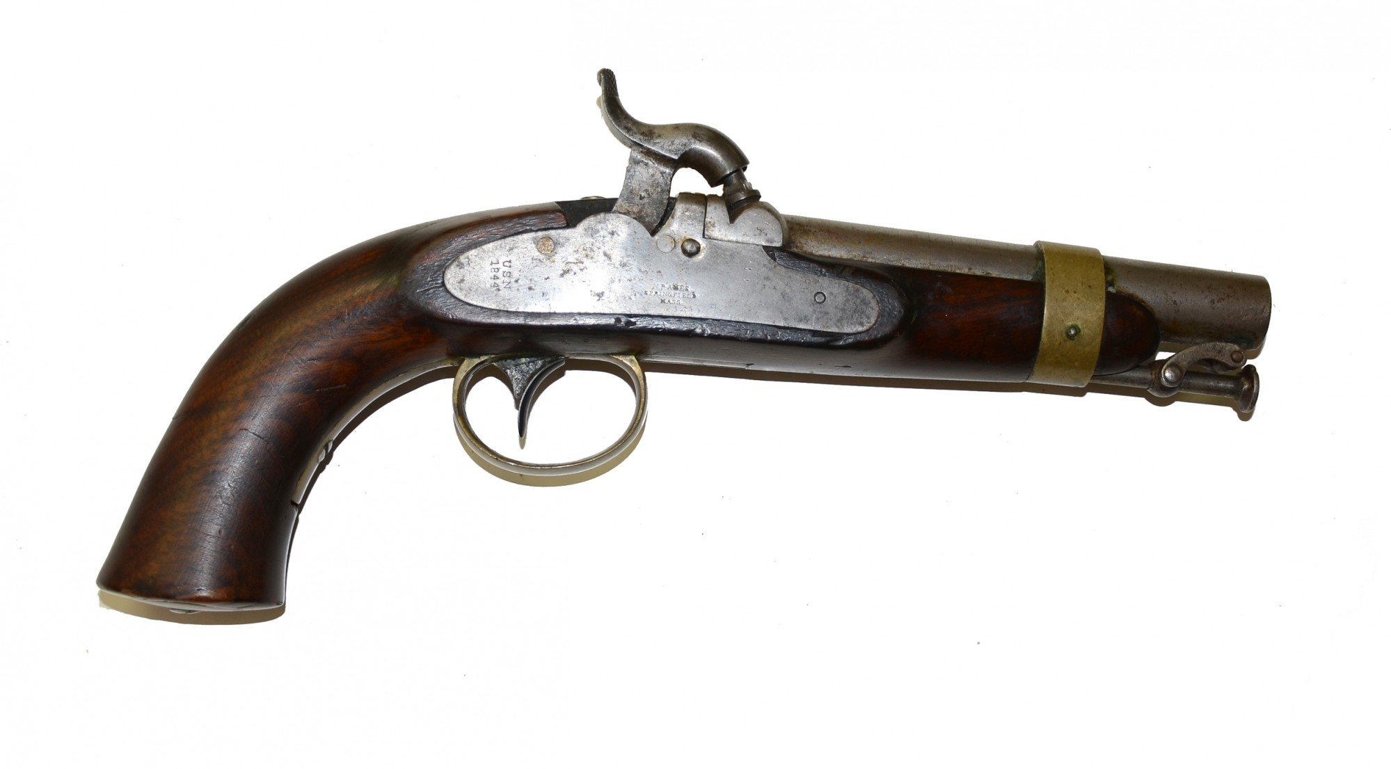 N. P. AMES NAVY PERCUSSION PISTOL, M1843, DATED 1844