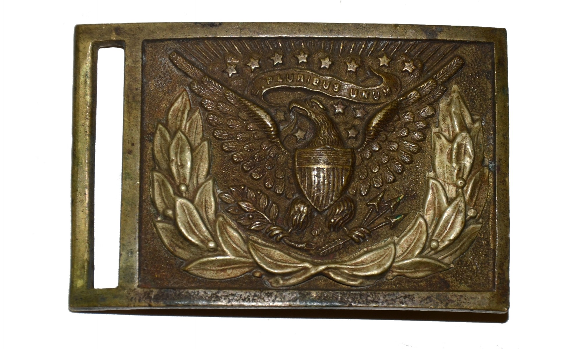 US MODEL 1851 NCO RECTANGULAR BELT PLATE