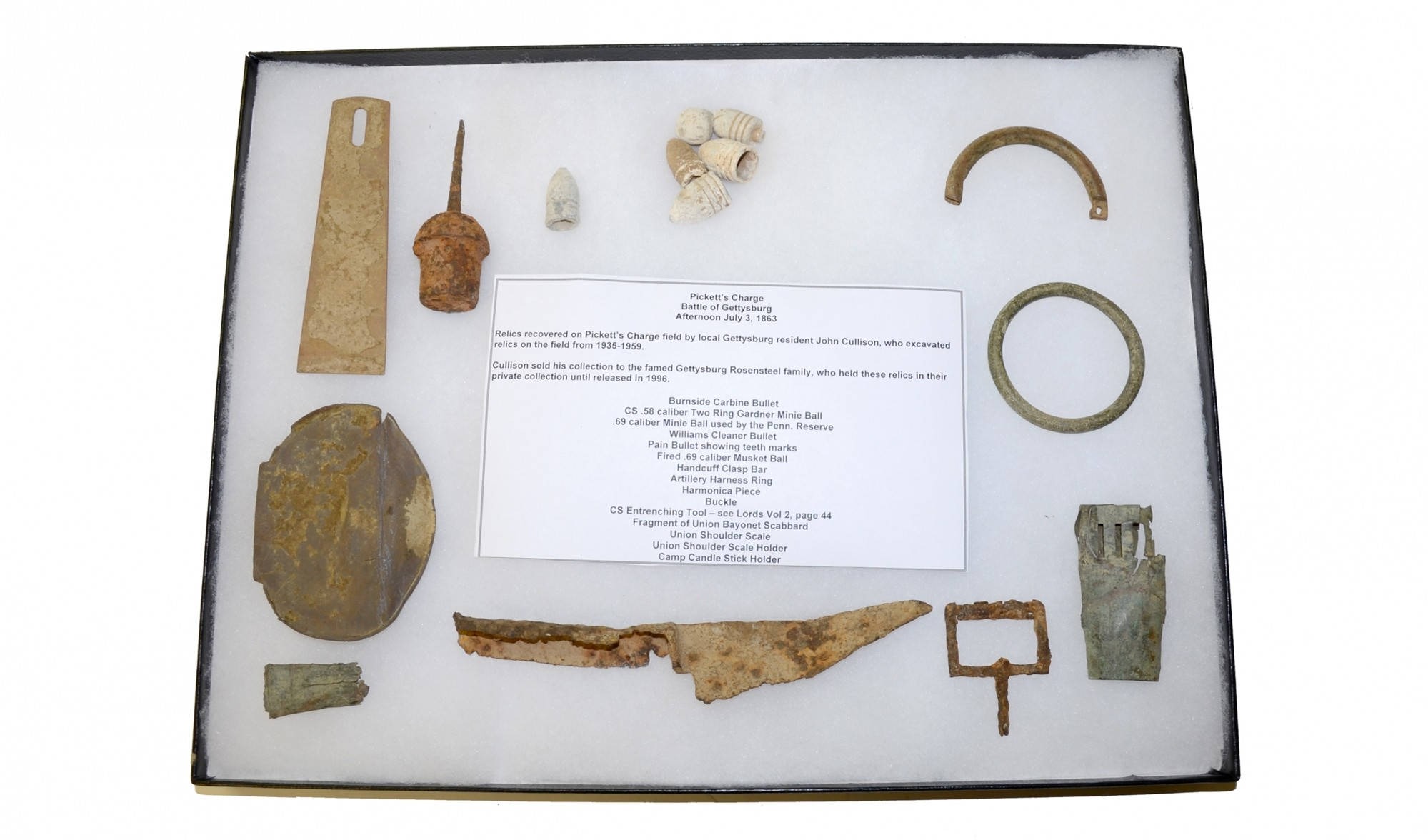 RELICS RECOVERED FROM PICKETT'S CHARGE BY JOHN CULLISON