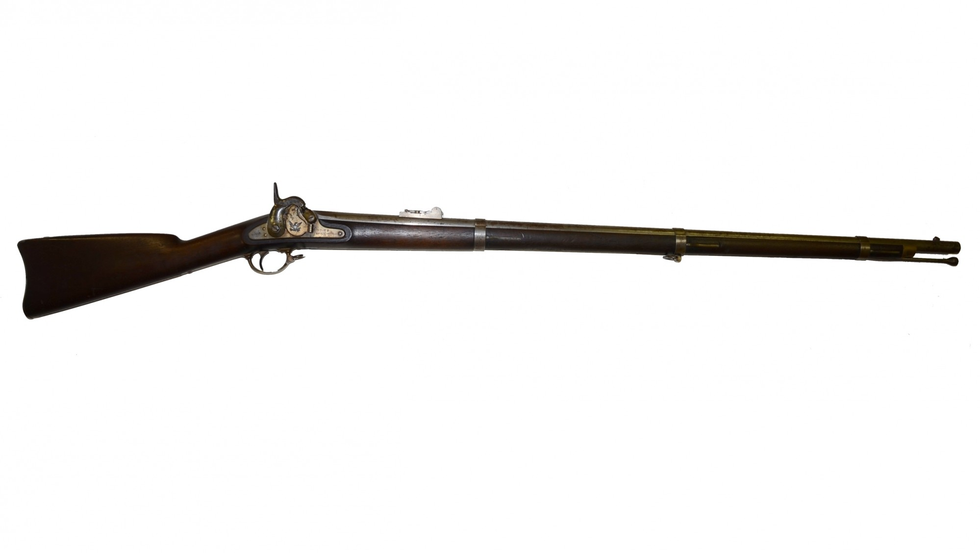 VERY FINE, SPRINGFIELD M1855 PERCUSSION RIFLE-MUSKET, DATED 1857