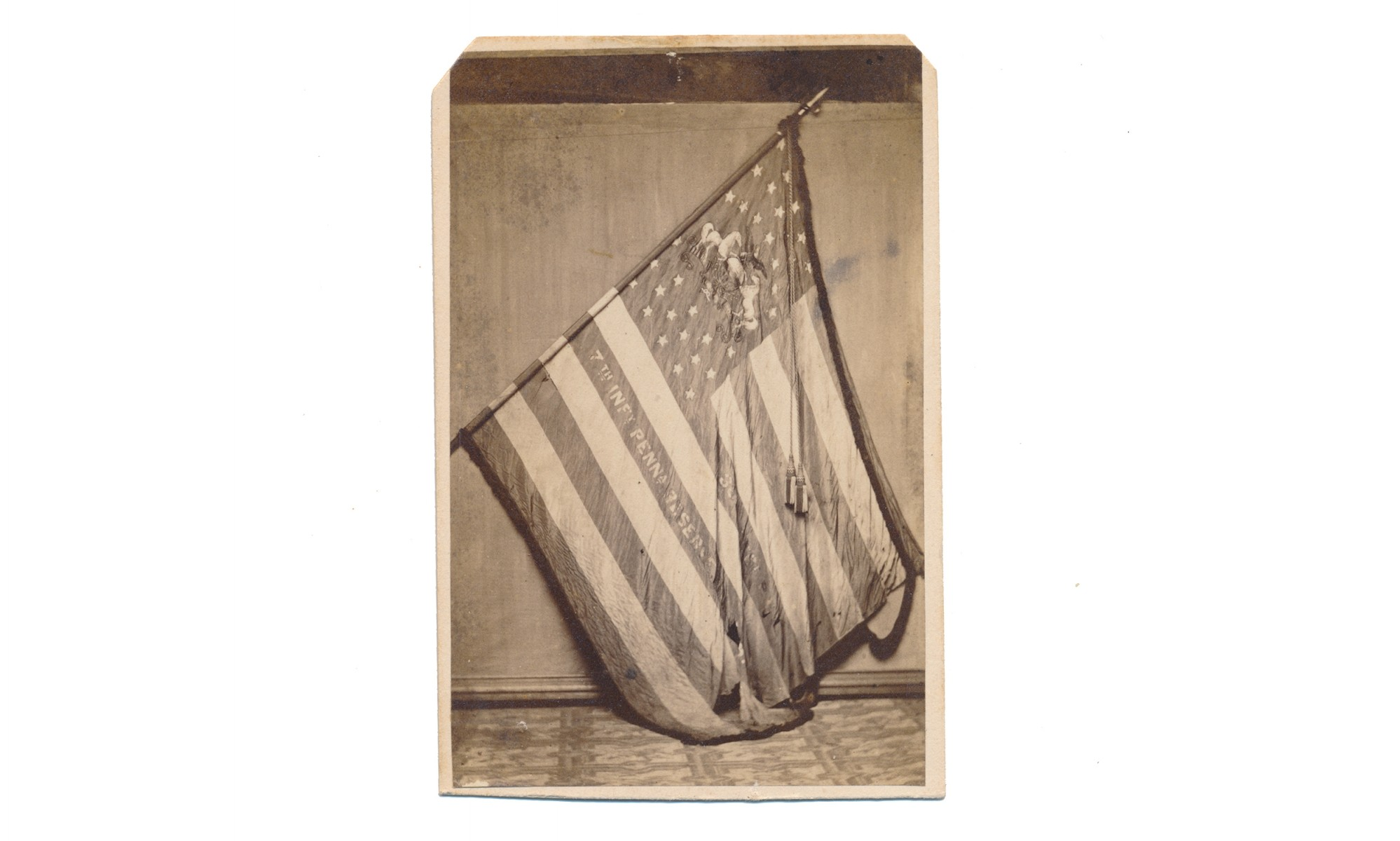 CDV OF 36TH PENNSYLVANIA (7TH RESERVES) NATIONAL COLORS