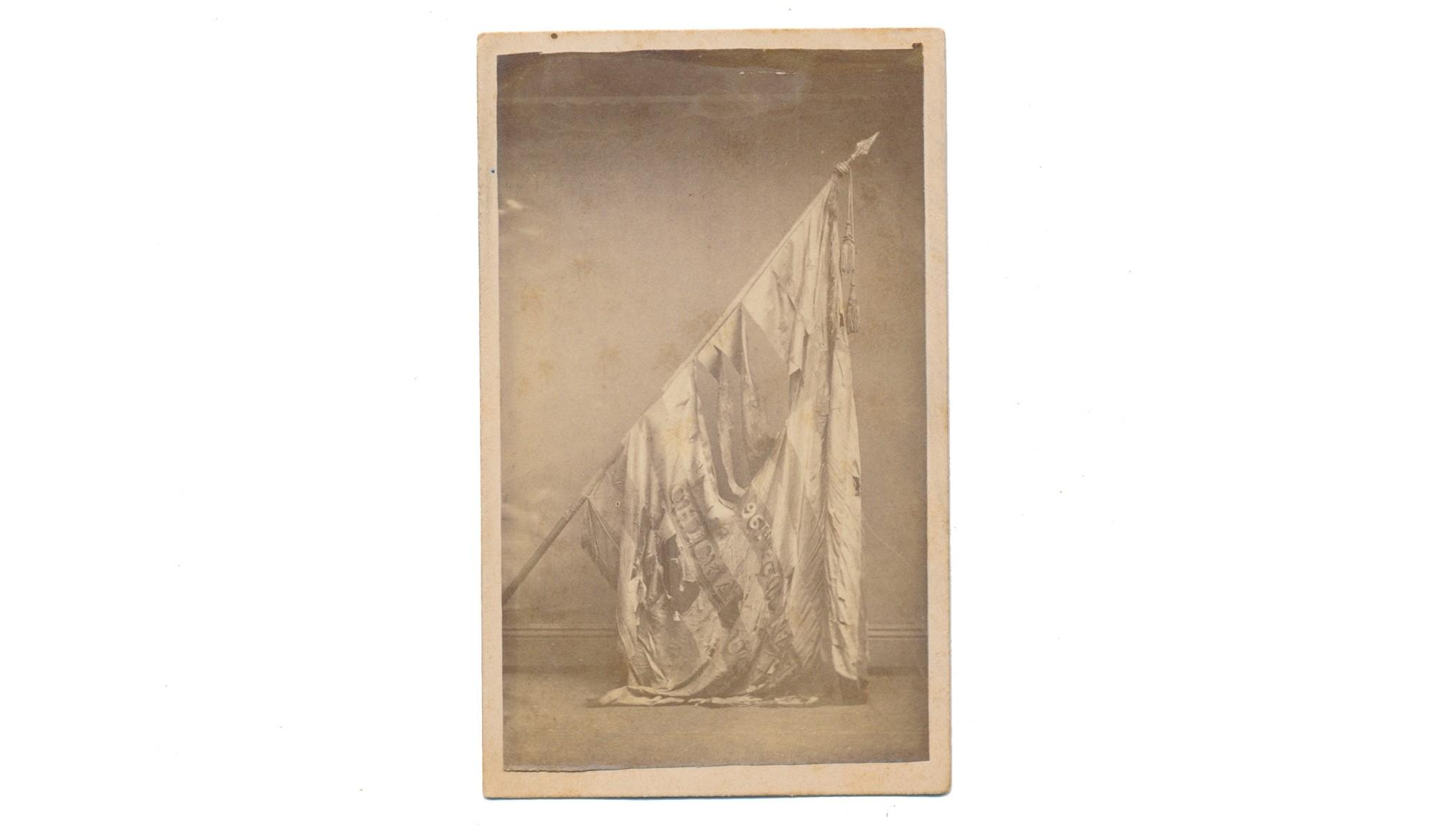 CDV OF 96TH ILLINOIS NATIONAL COLORS
