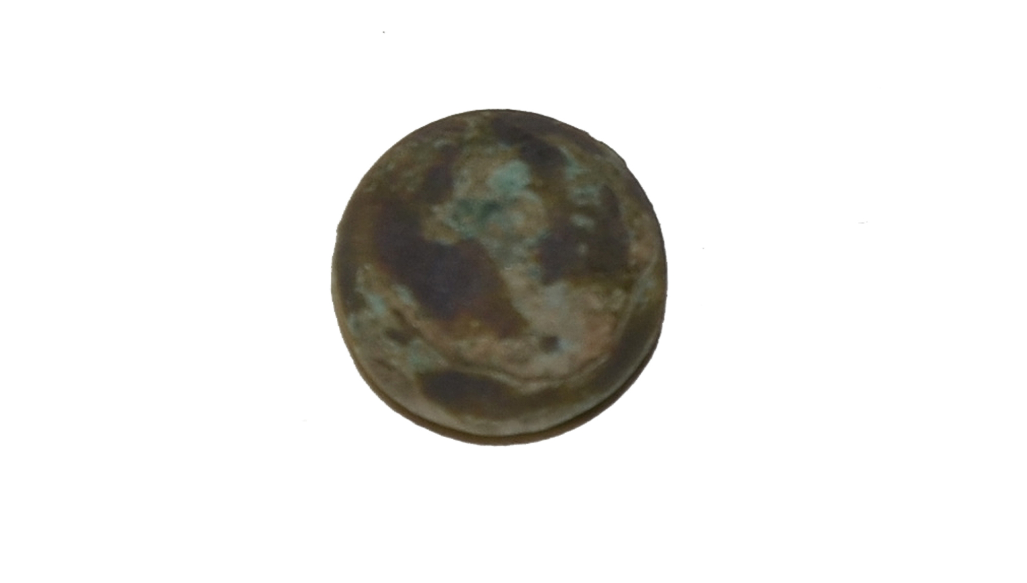 ZOUAVE CUFF BUTTON, 114th PENNSYLVANIA INFANTRY, RECOVERED FROM SHERFY FARM, GETTYSBURG