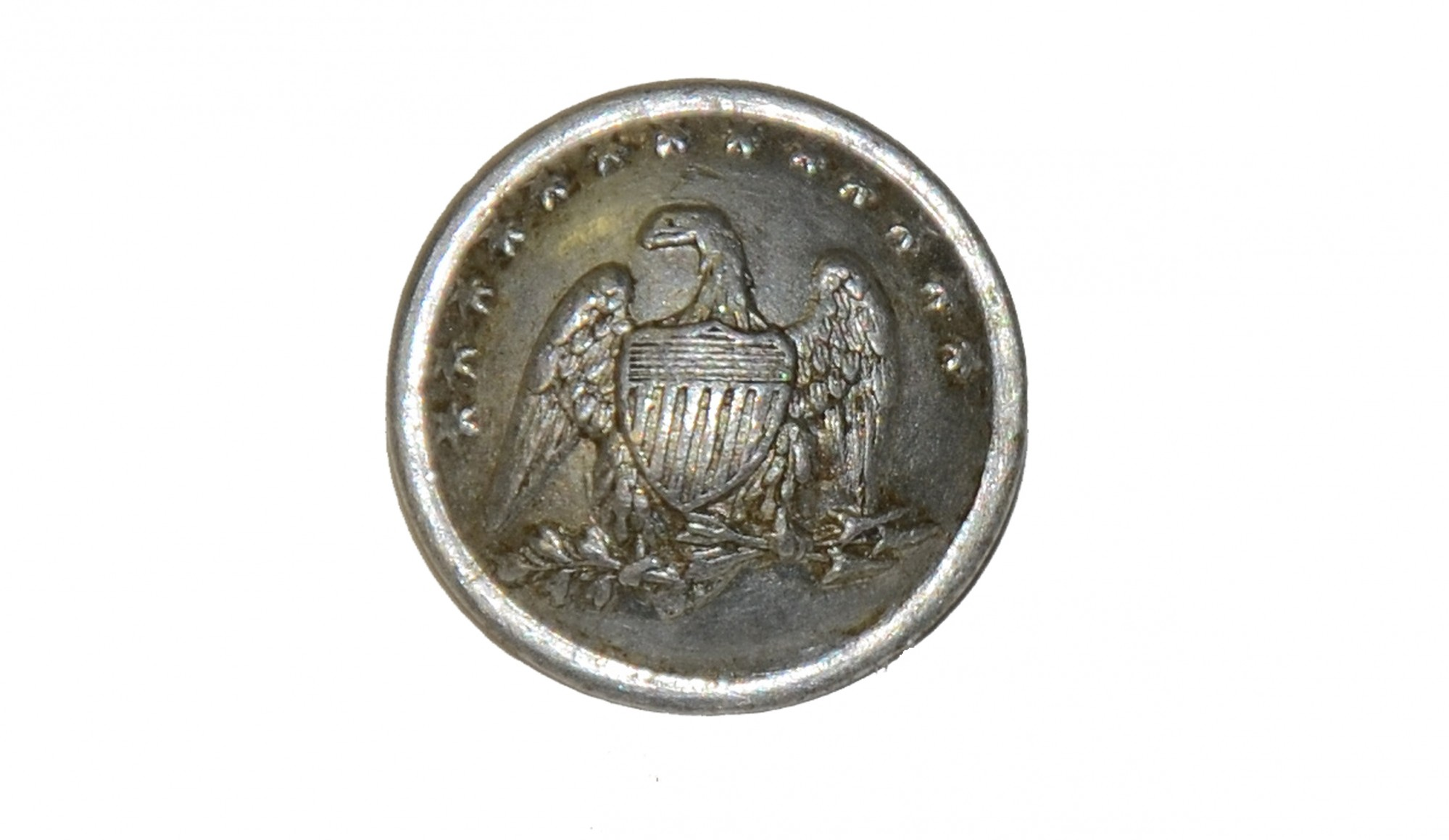 FRENCH CHASSEUR CUFF BUTTON AS WORN BY PENNSYLVANIA, MASSACHUSETTS & NEW YORK UNITS