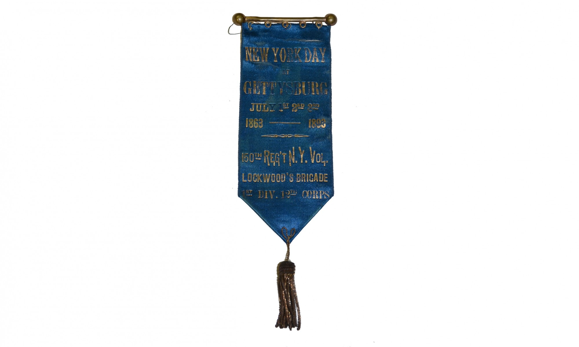 REUNION RIBBON FOR 150TH NEW YORK VOLUNTEERS - NEW YORK DAY AT GETTYSBURG