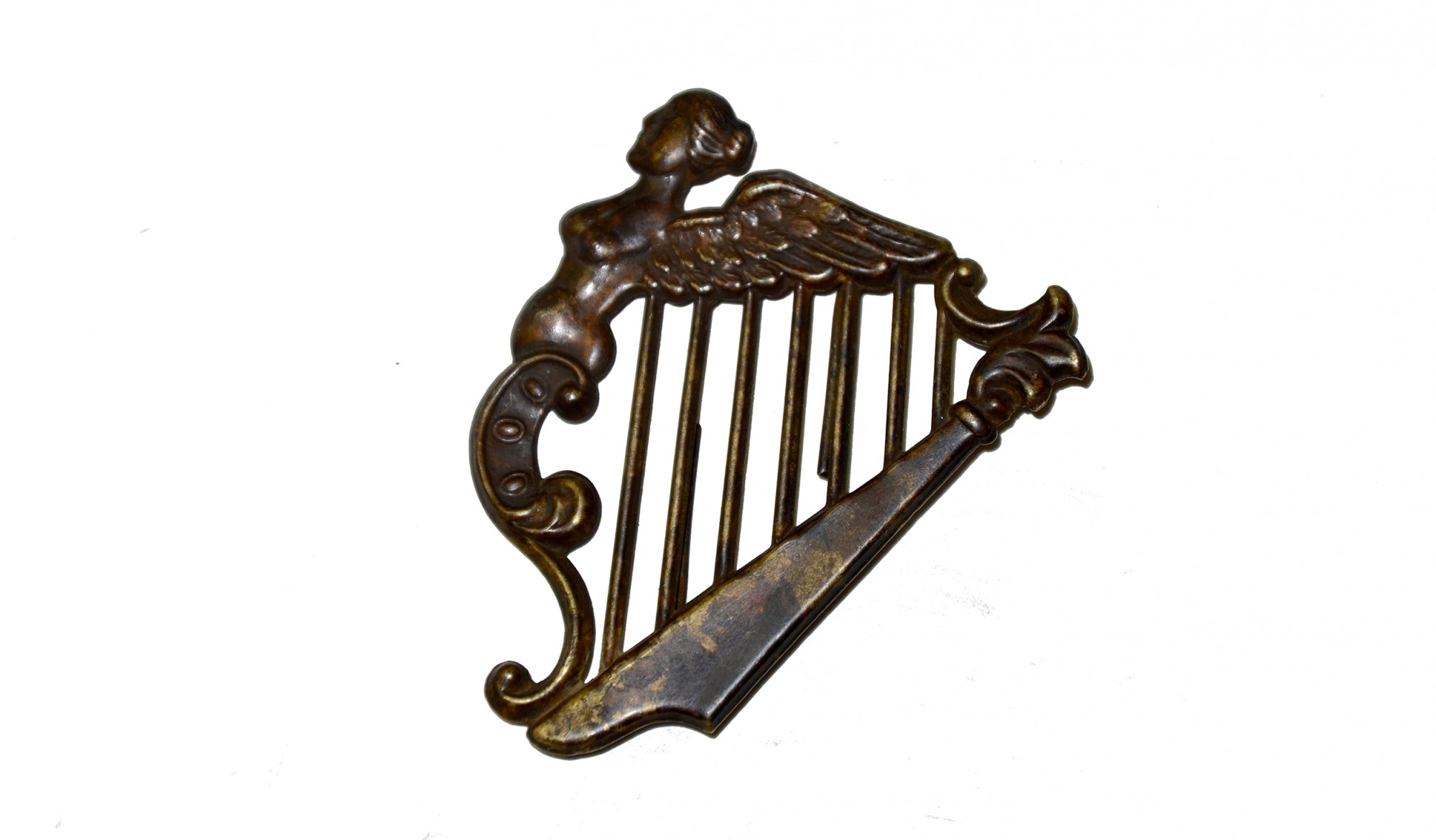 CIVIL WAR ERA IRISH HARP HAT INSIGNIA