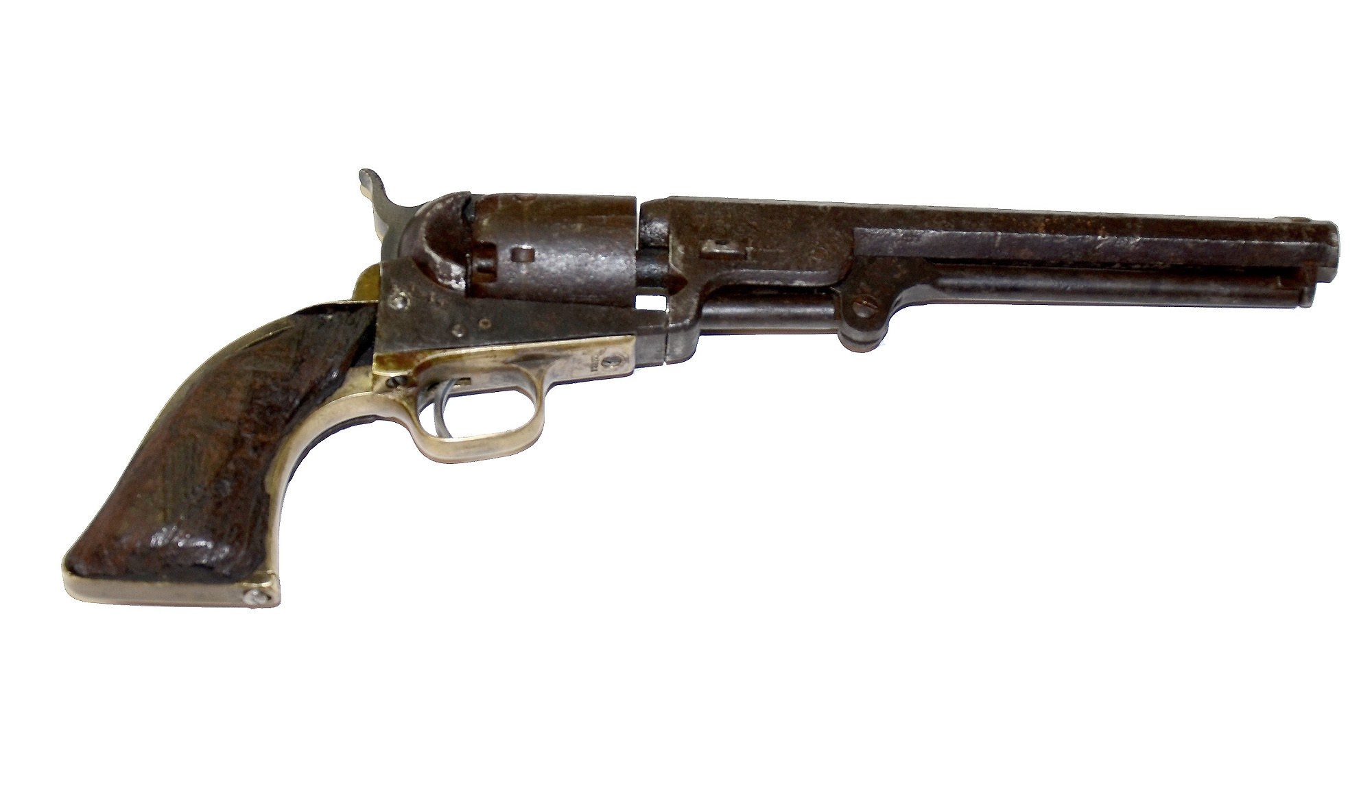 RICHMOND-RECOVERED M1851 NAVY COLT REVOLVER IN RELIC CONDITION, STILL WITH FIVE ROUNDS IN CHAMBER
