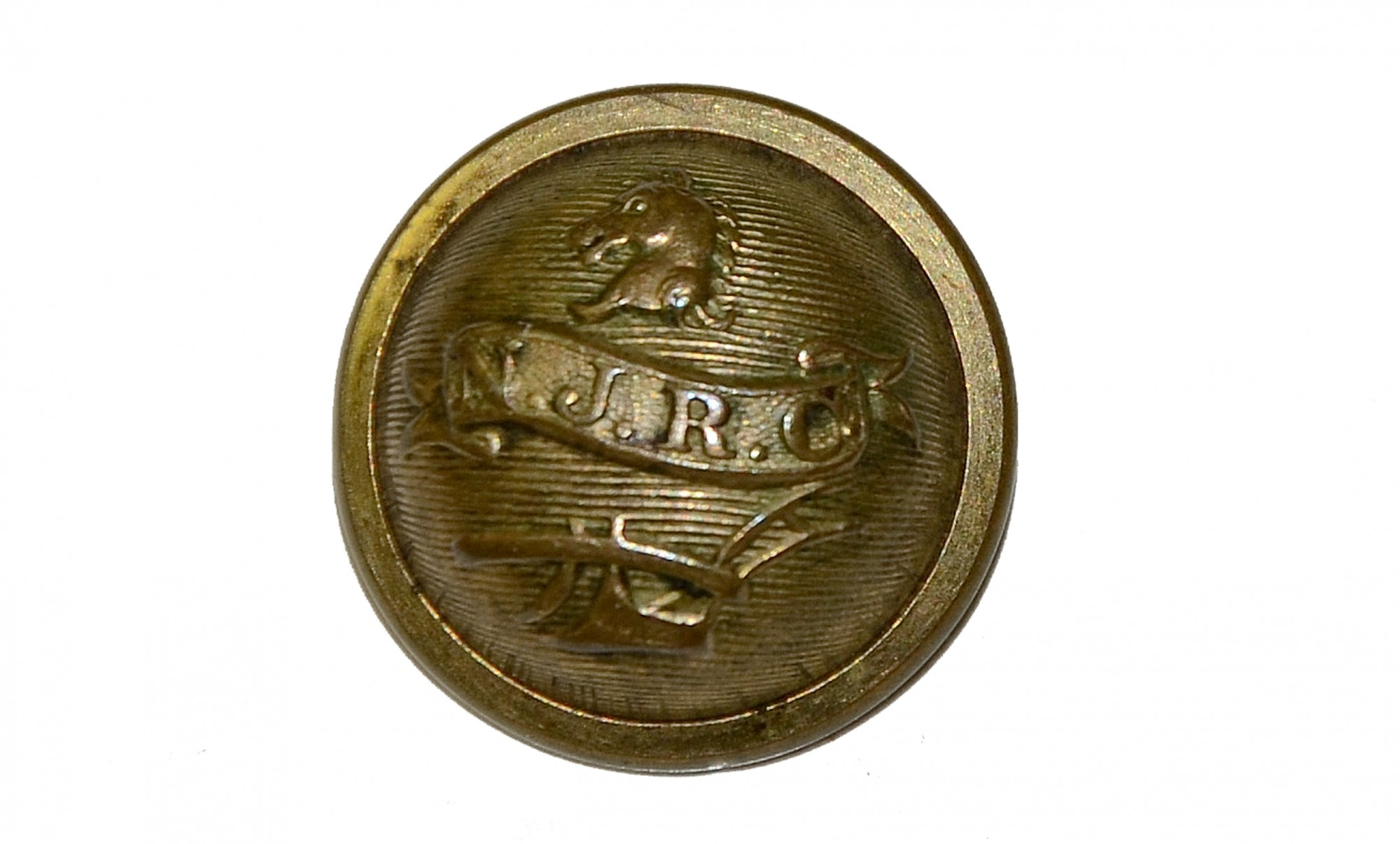 VERY NICE CONDITIONED NEW JERSEY RIFLE CORPS CUFF BUTTON