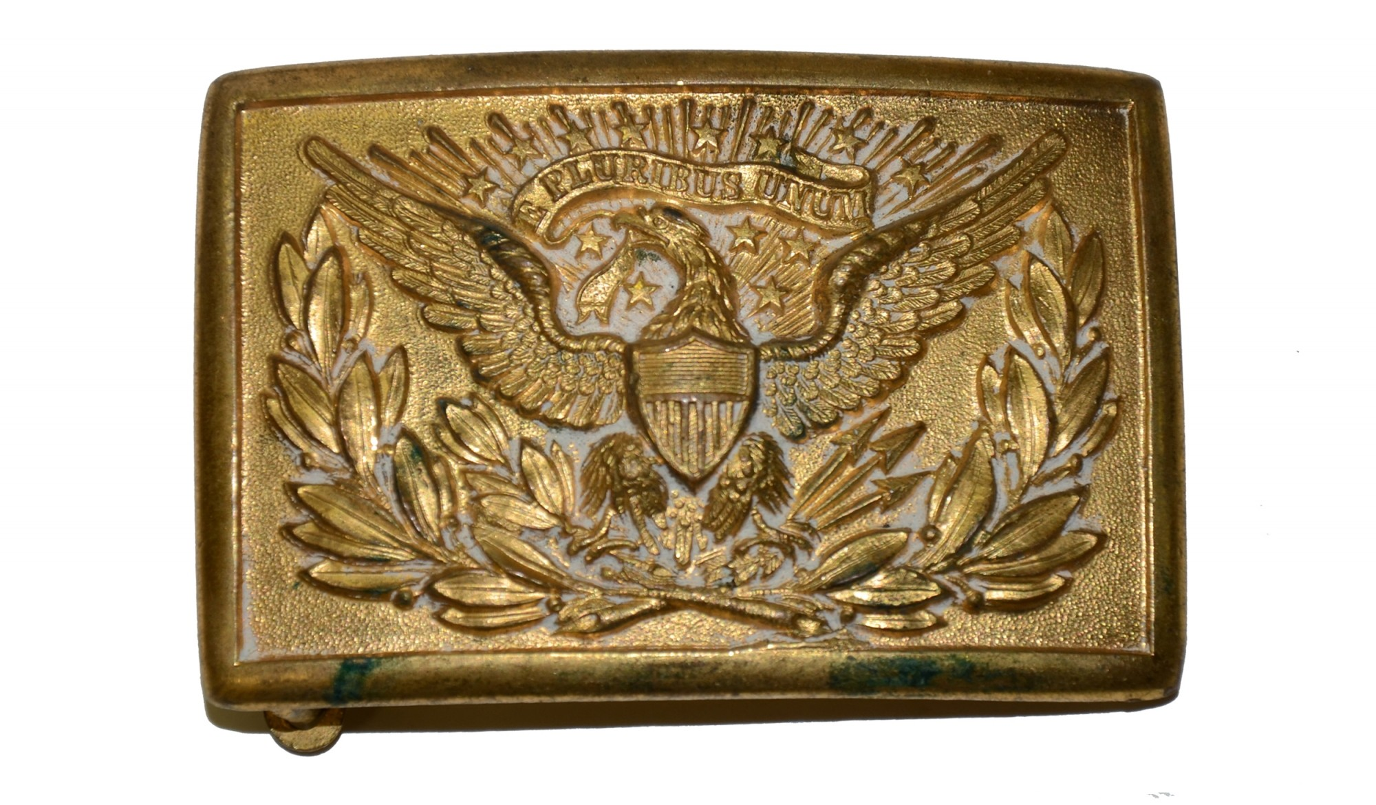 INDIAN WAR OFFICER'S BELT PLATE