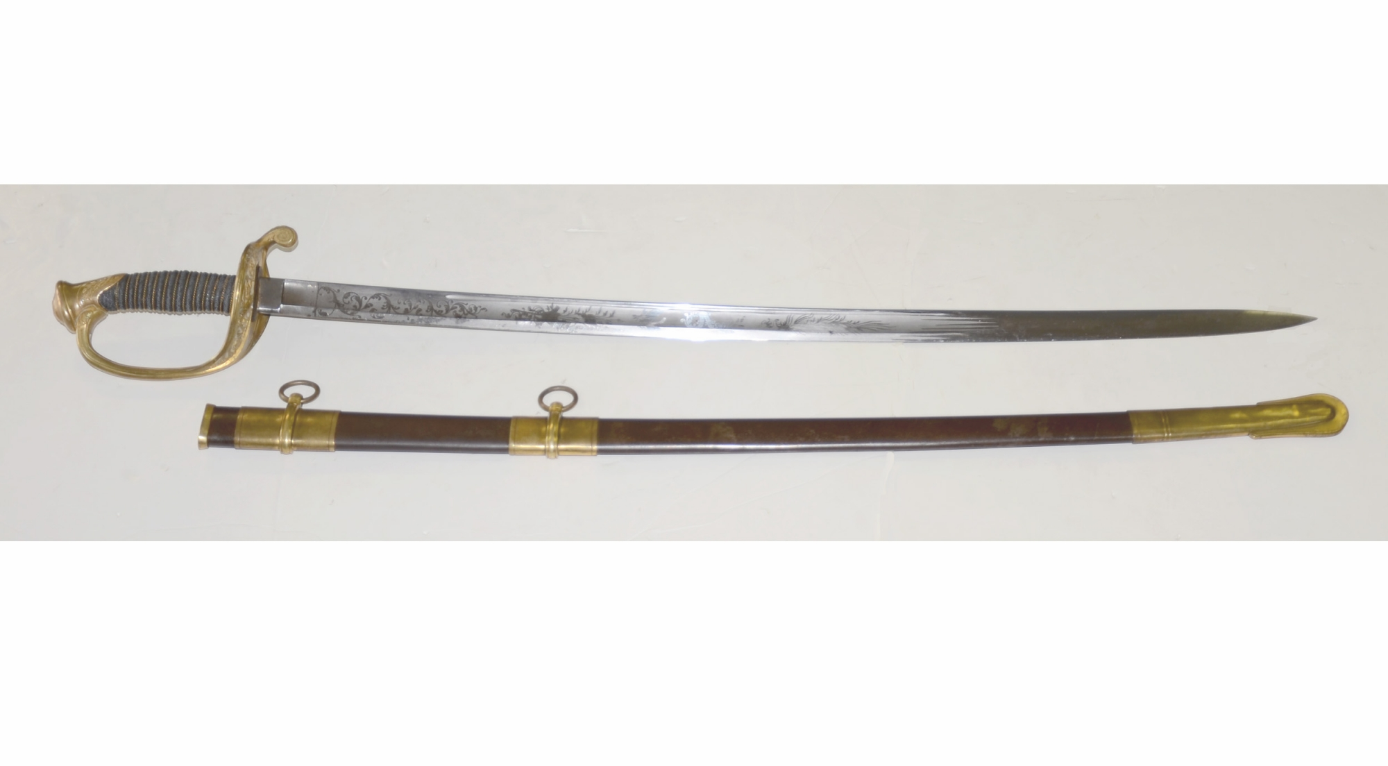 MODEL 1850 FOOT OFFICER'S SWORD BY AMES MANUFACTURING COMPANY, CHICOPEE, MA