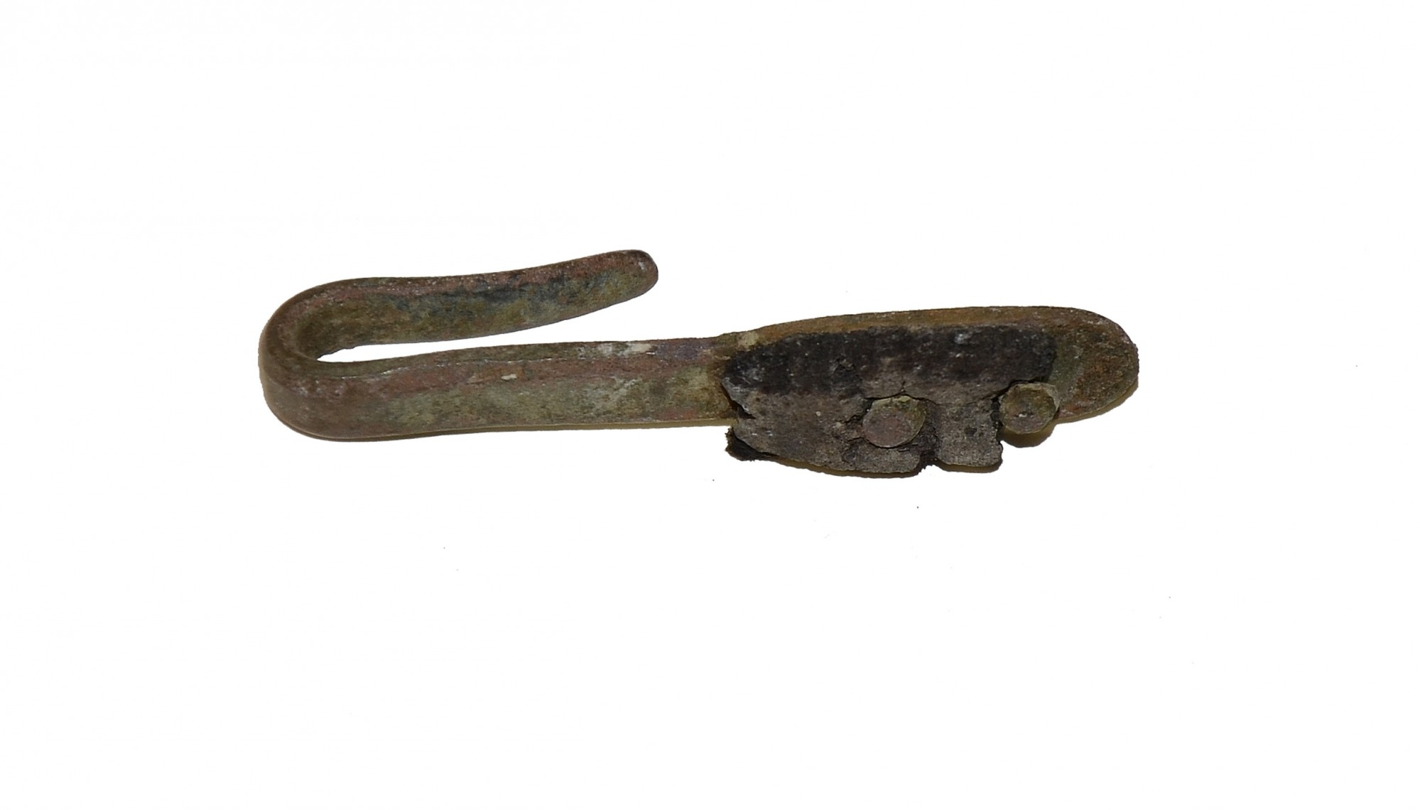 US/CS BRASS MUSKET SLING HOOK ADJUSTER RECOVERED ON THE SHERFY FARM, GETTYSBURG