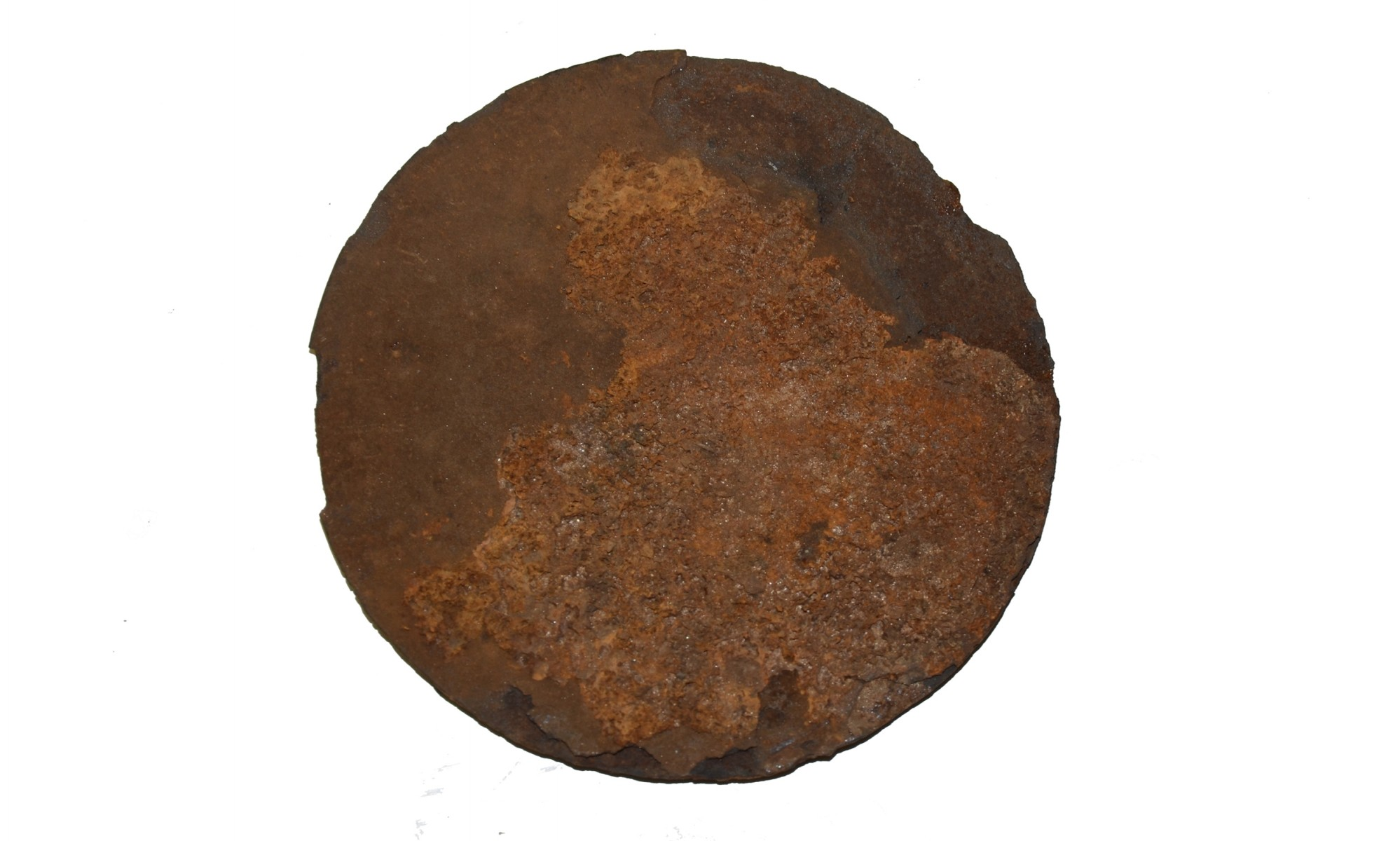 CONFEDERATE 6-INCH CANISTER PLATE RECOVERED AT ATLANTA