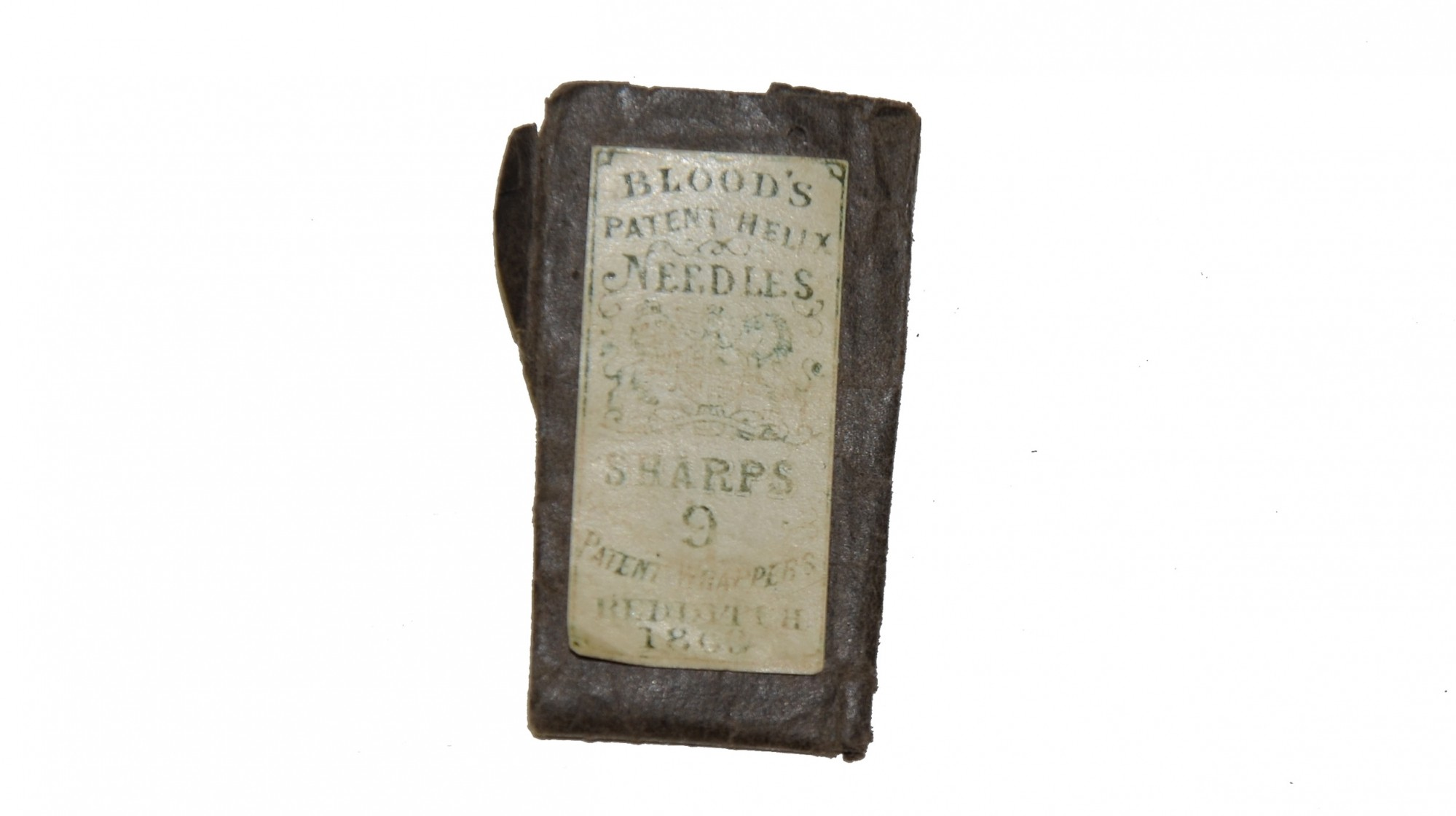 PACKET OF SEWING NEEDLES, DATED 1863