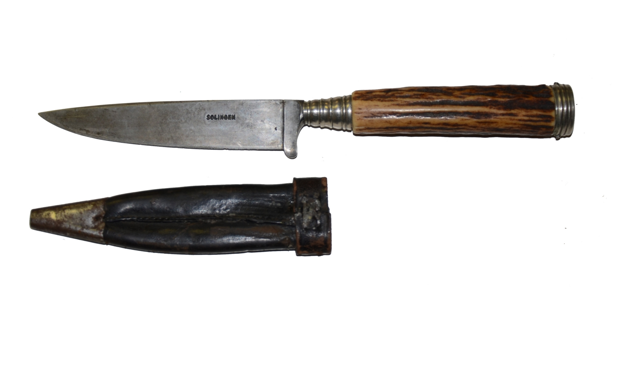 19TH CENTURY GERMAN SIDE KNIFE WITH SHEATH