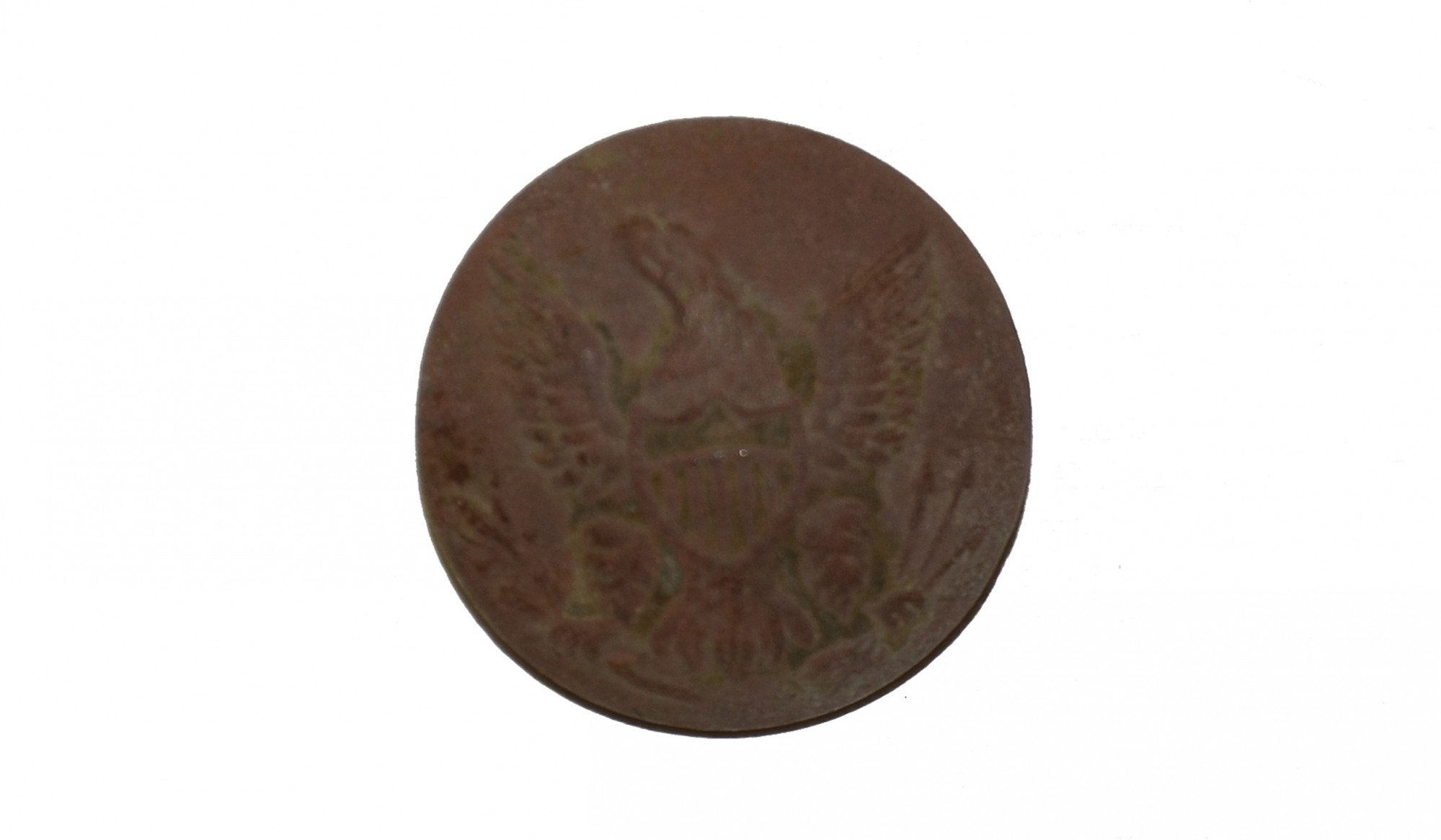 US GENERAL SERVICE EAGLE JACKET BUTTON, RECOVERED FROM KLINGEL FARM, GETTYSBURG