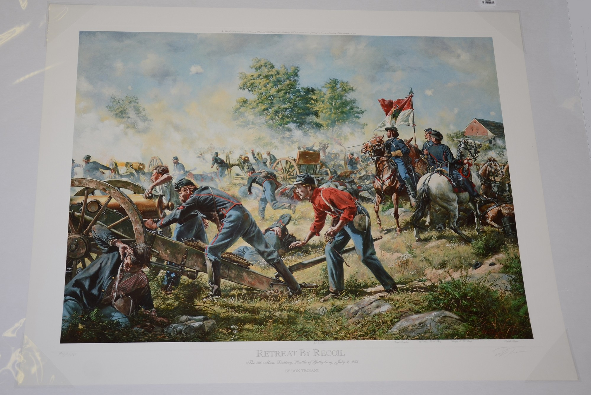RETREAT BY RECOIL: THE 9TH MASSACHUSETTS BATTERY, BATTLE OF GETTYSBURG, JULY 2, 1863 - DON TROIANI
