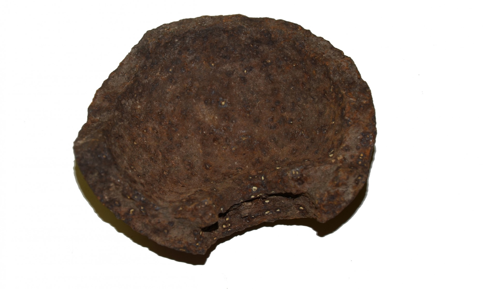 "US 4.52"" 12 LB. SPHERICAL SHELL FRAGMENT RECOVERED AT THE ROSE FARM, GETTYSBURG"