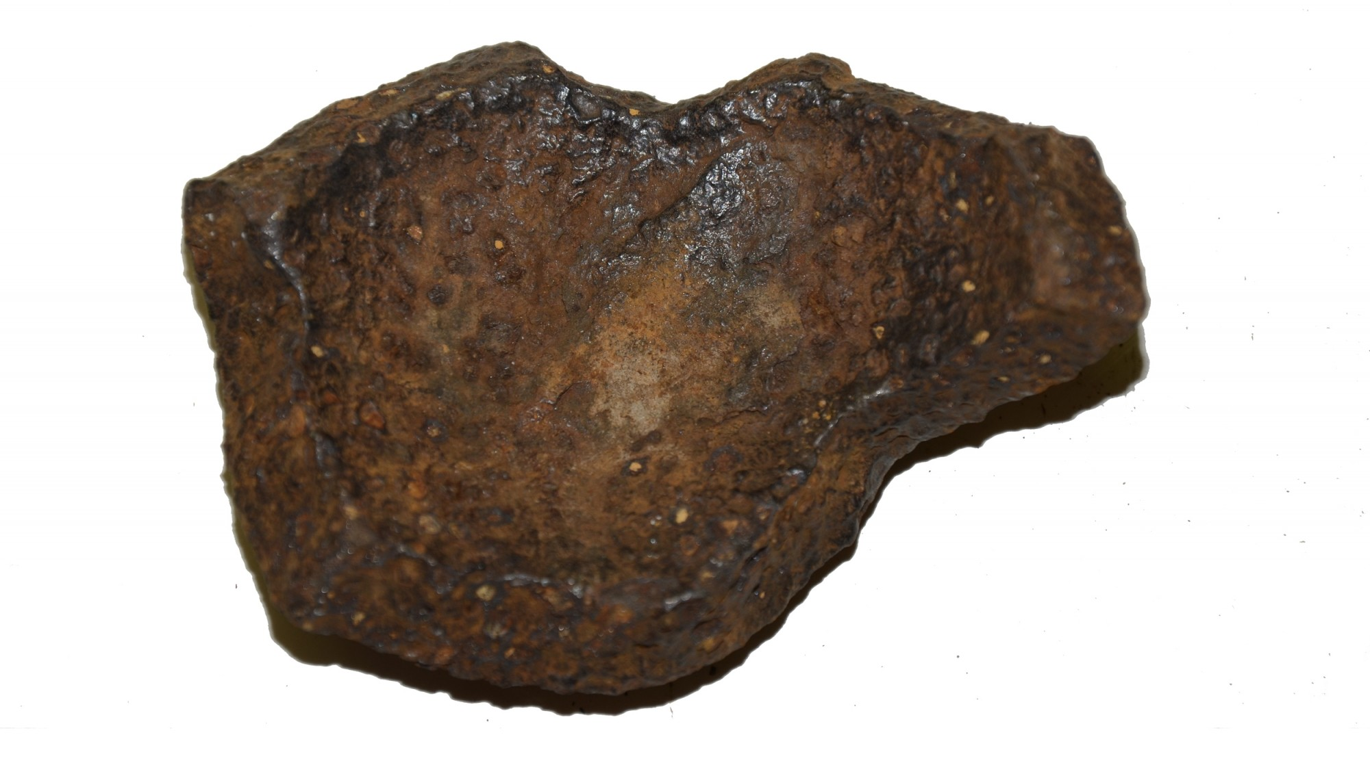 "US/CS 4.52"" 12 LB SPHERICAL SHELL FRAGMENT RECOVERED AT THE TROSTLE FARM, GETTYSBURG"