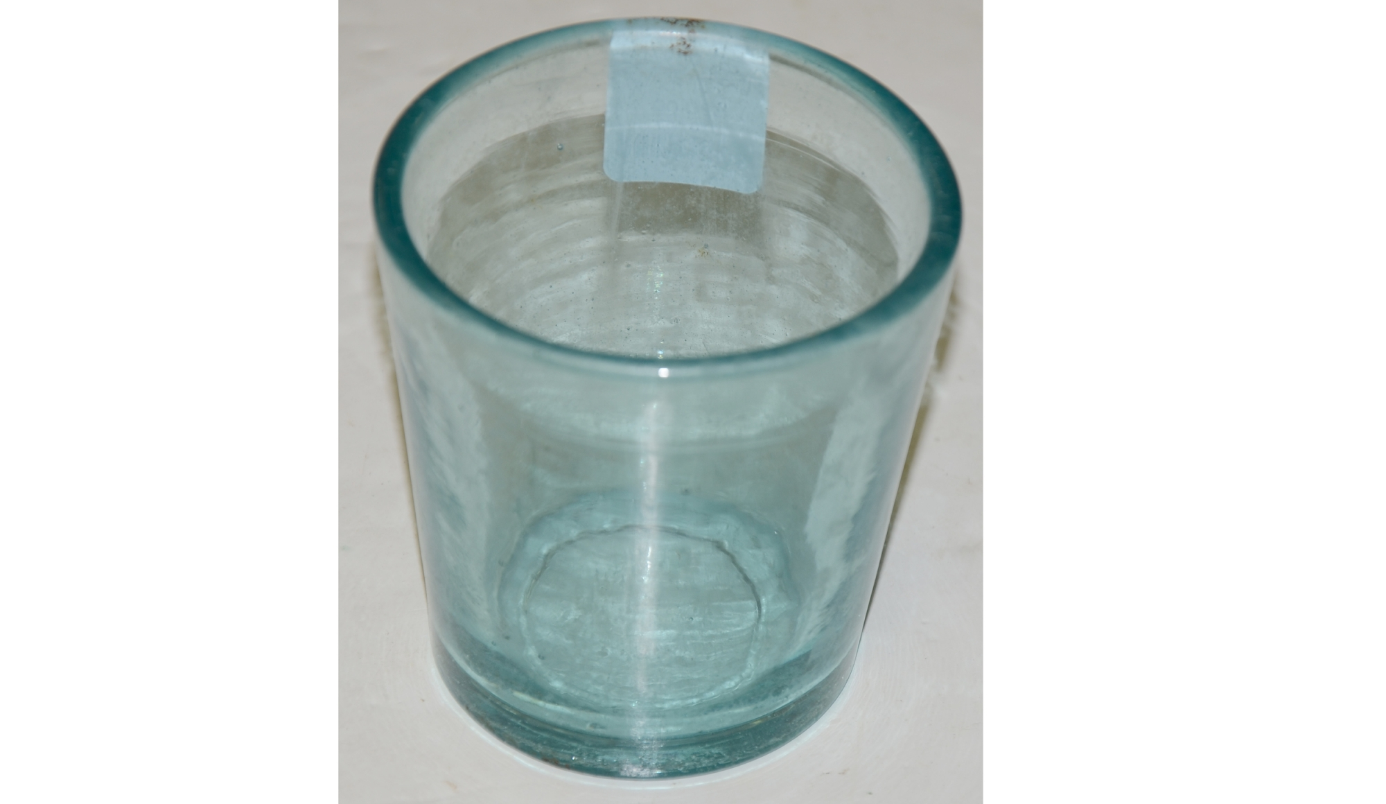AQUA 1850's FLINT GLASS WHISKEY TUMBLER