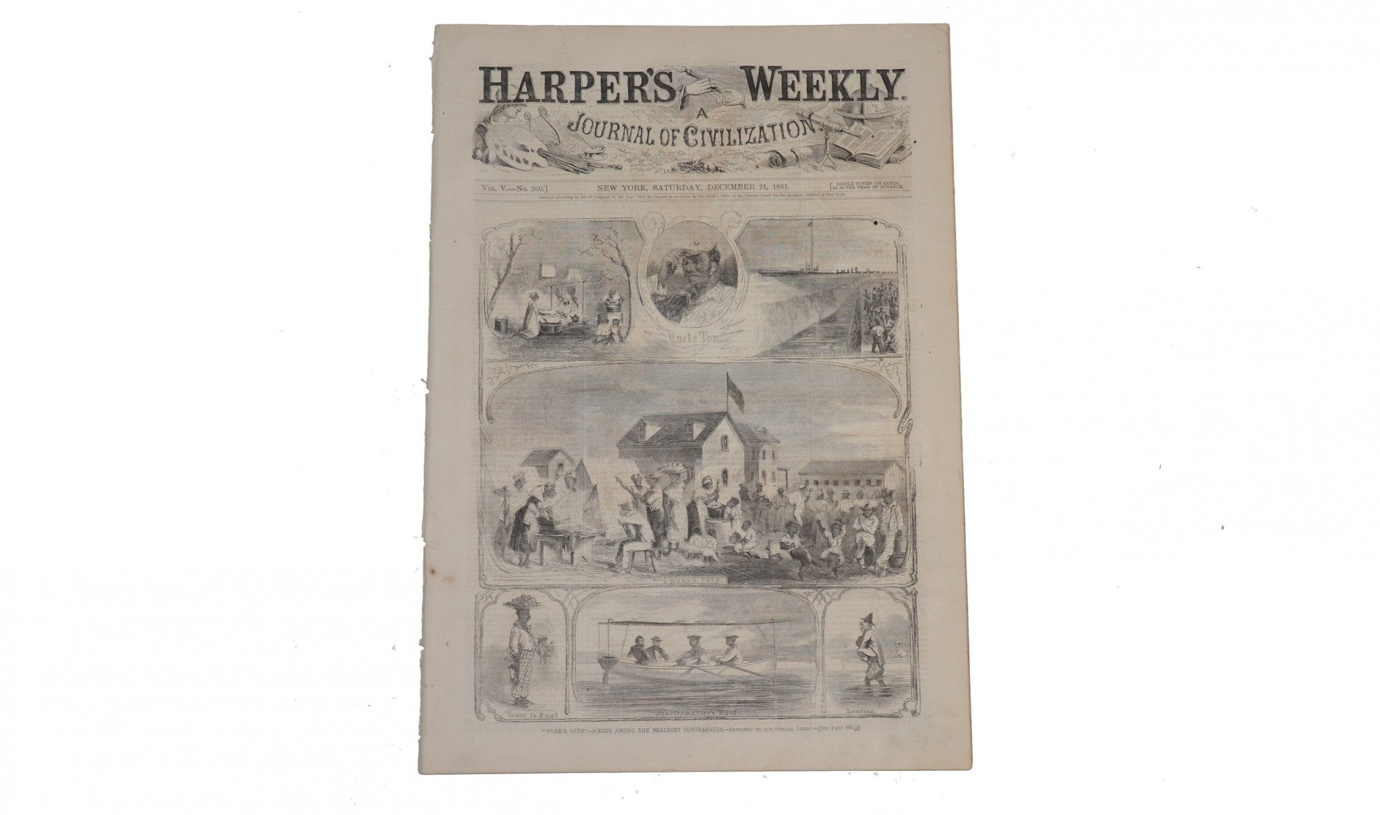 "HARPER'S WEEKLY DATED DECEMBER 21, 1861 – ""CONTRABANDS"""