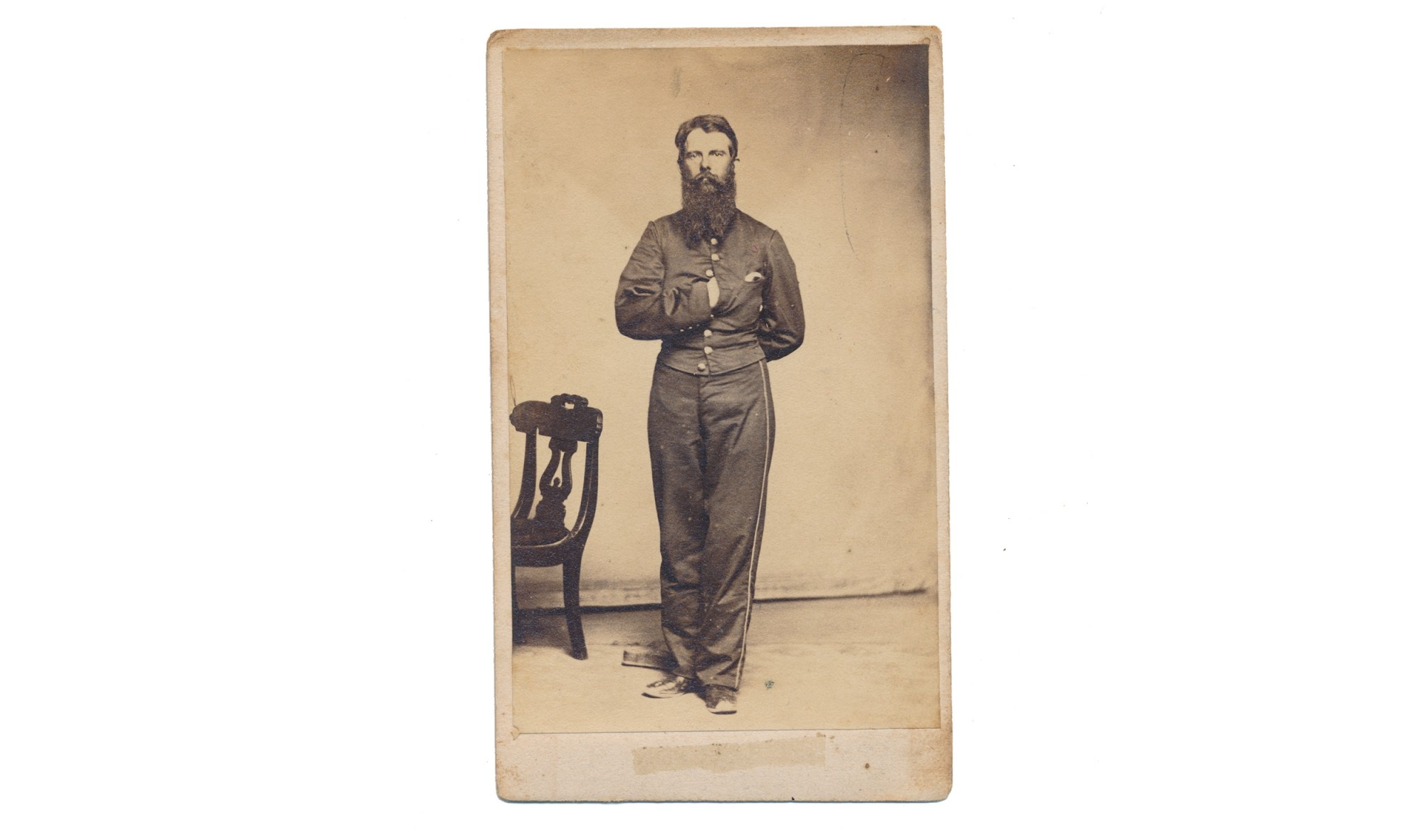 FULL STANDING CDV OF A 3RD PENNSYLVANIA CAVALRYMAN