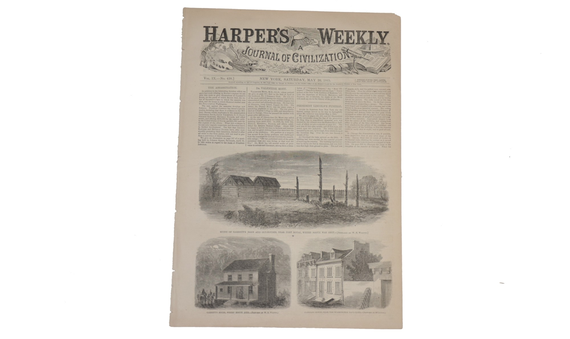 HARPER'S WEEKLY DATED MAY 20, 1865 – LINCOLN CONSPIRATORS