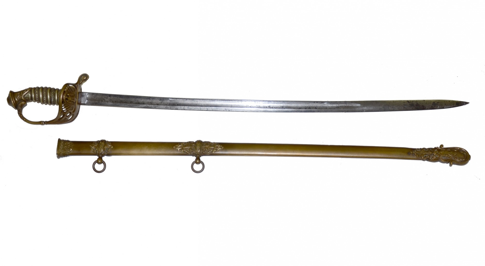 FRENCH IMPORT PRESENTATION GRADE SWORD ID'D TO 18TH KENTUCKY LIEUTENANT