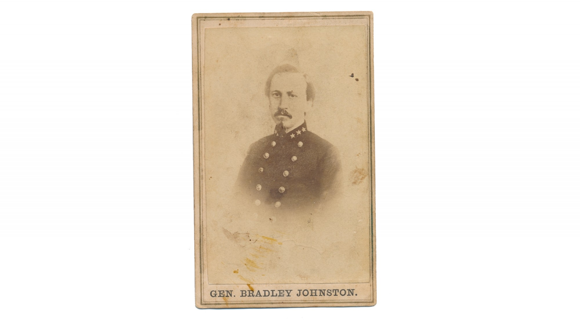 CDV PERIOD LITHOGRAPH OF CONFEDERATE GENERAL BRADLEY T. JOHNSON