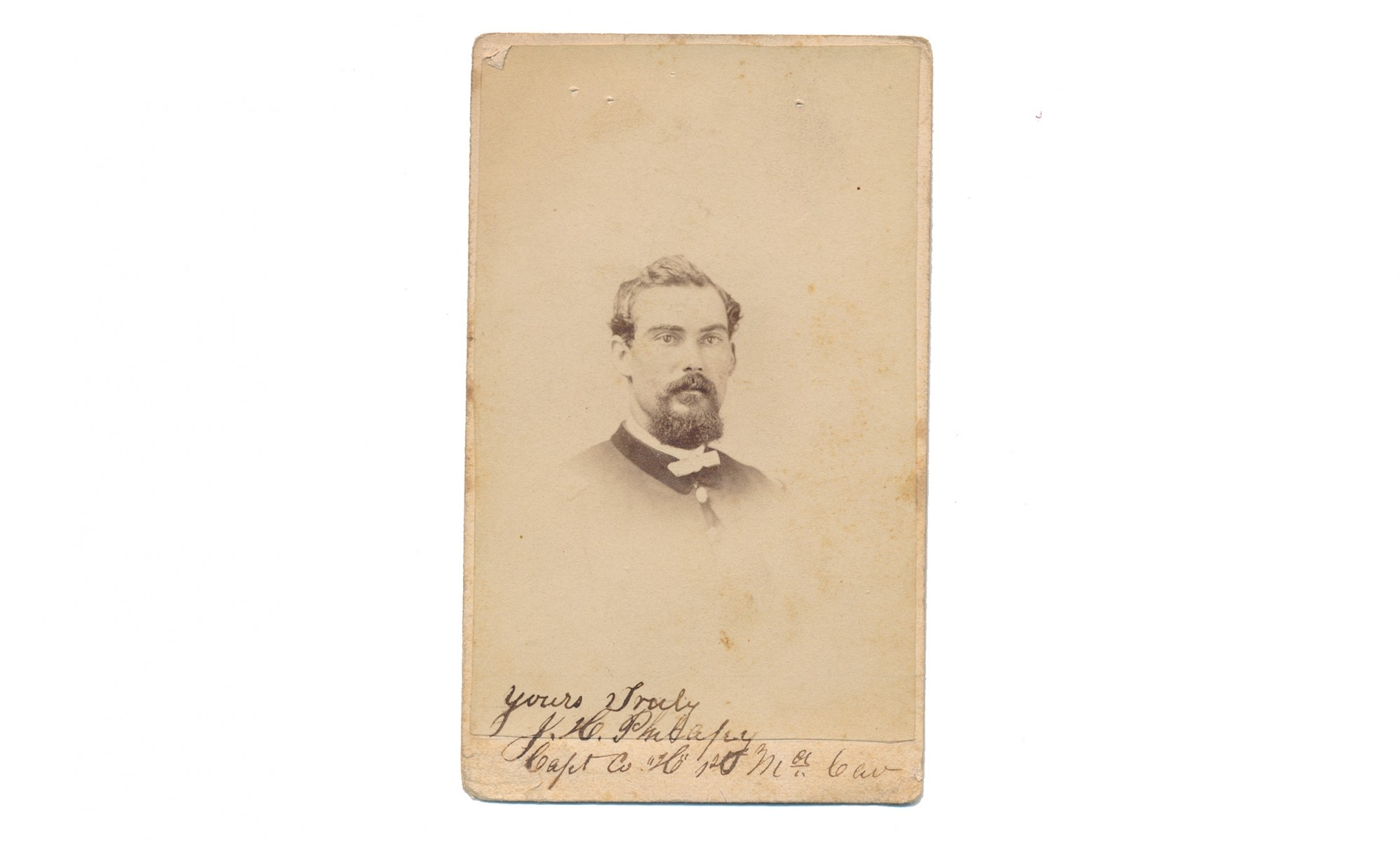 CDV OF CAPTAIN JAMES H. PHILAPY, 1st MD CAVALRY, US