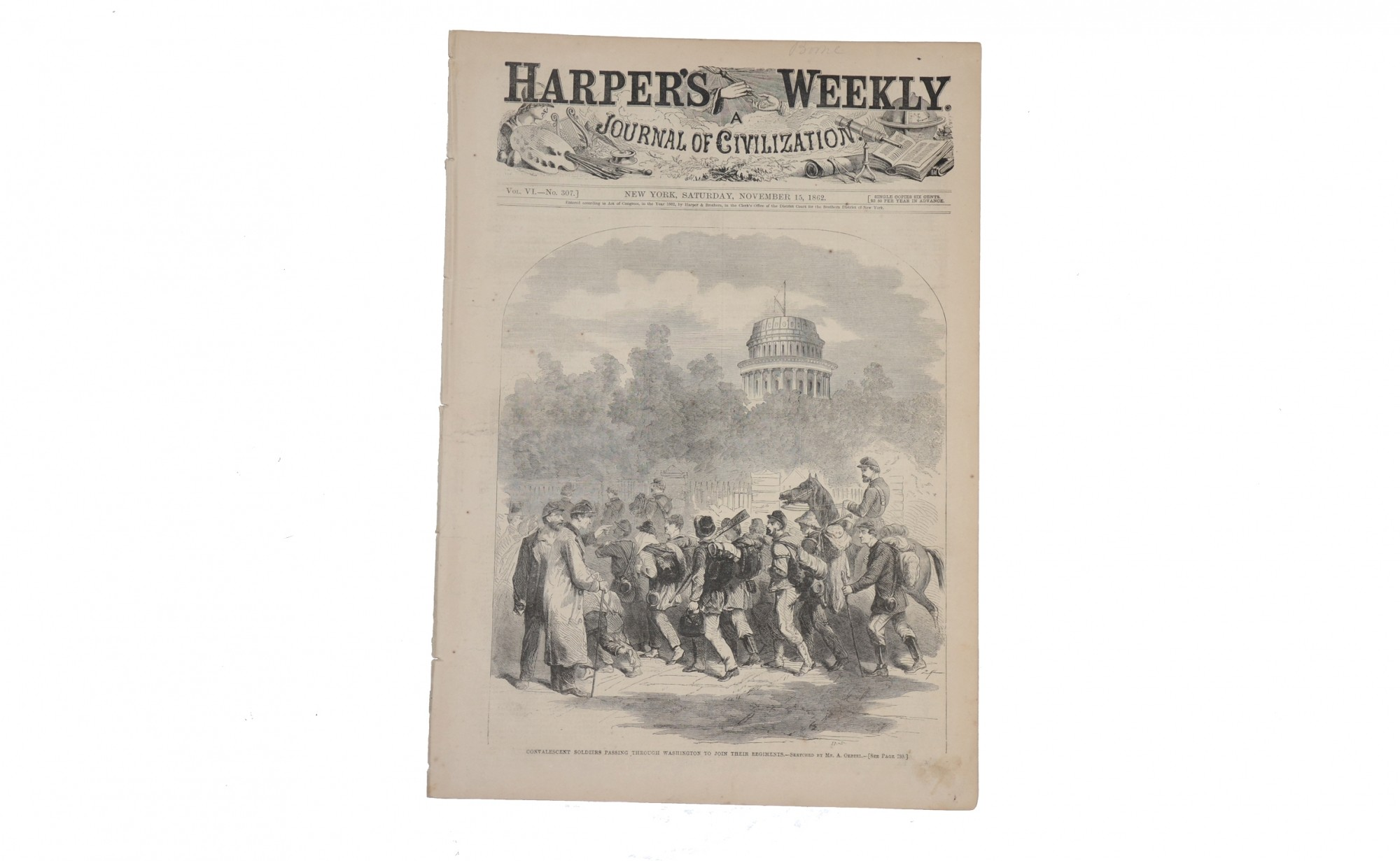 HARPER'S WEEKLY, DATED NOVEMBER 15, 1862
