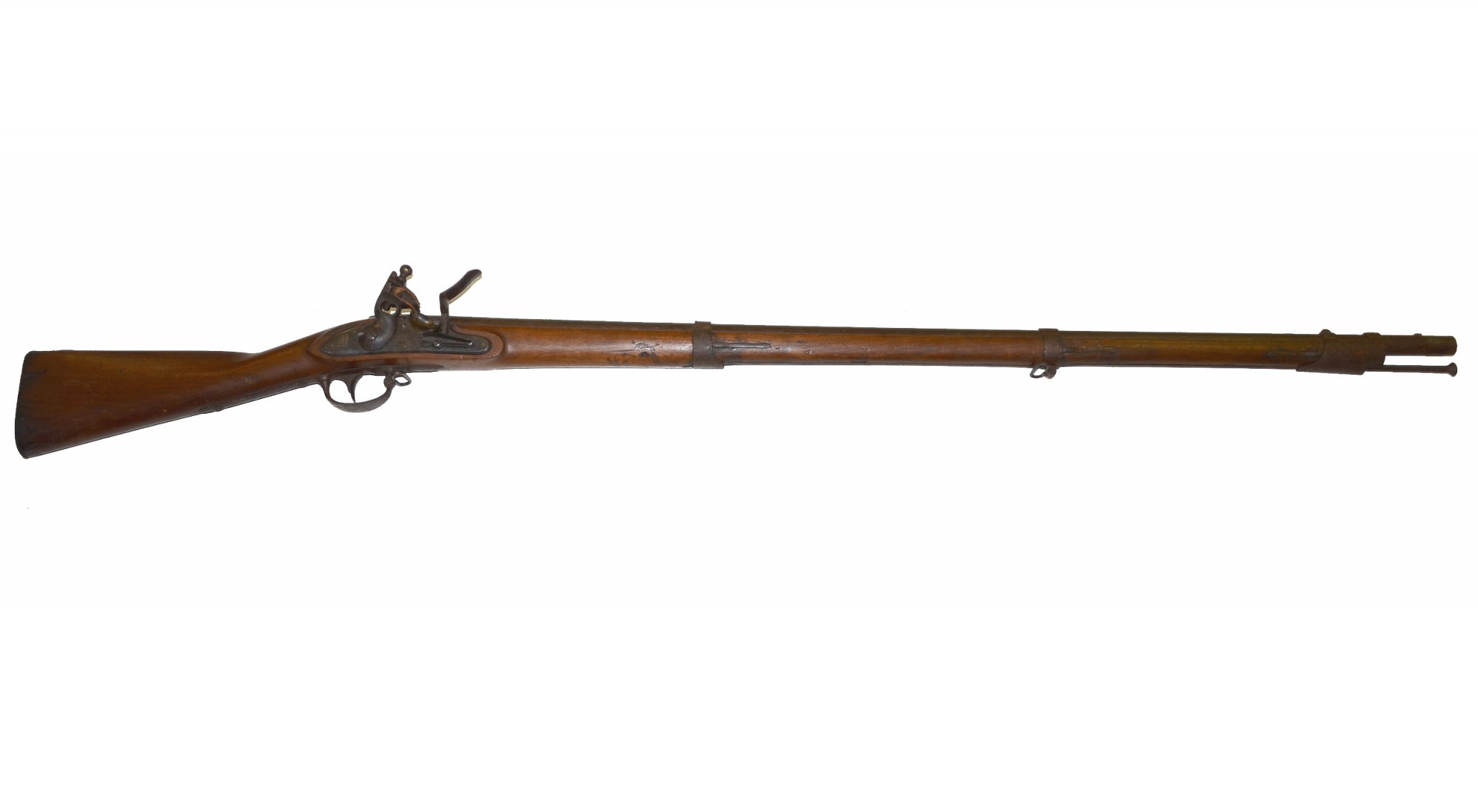 M1816 SPRINGFIELD FLINTLOCK MUSKET DATED 1832, WITH M1816 BAYONET