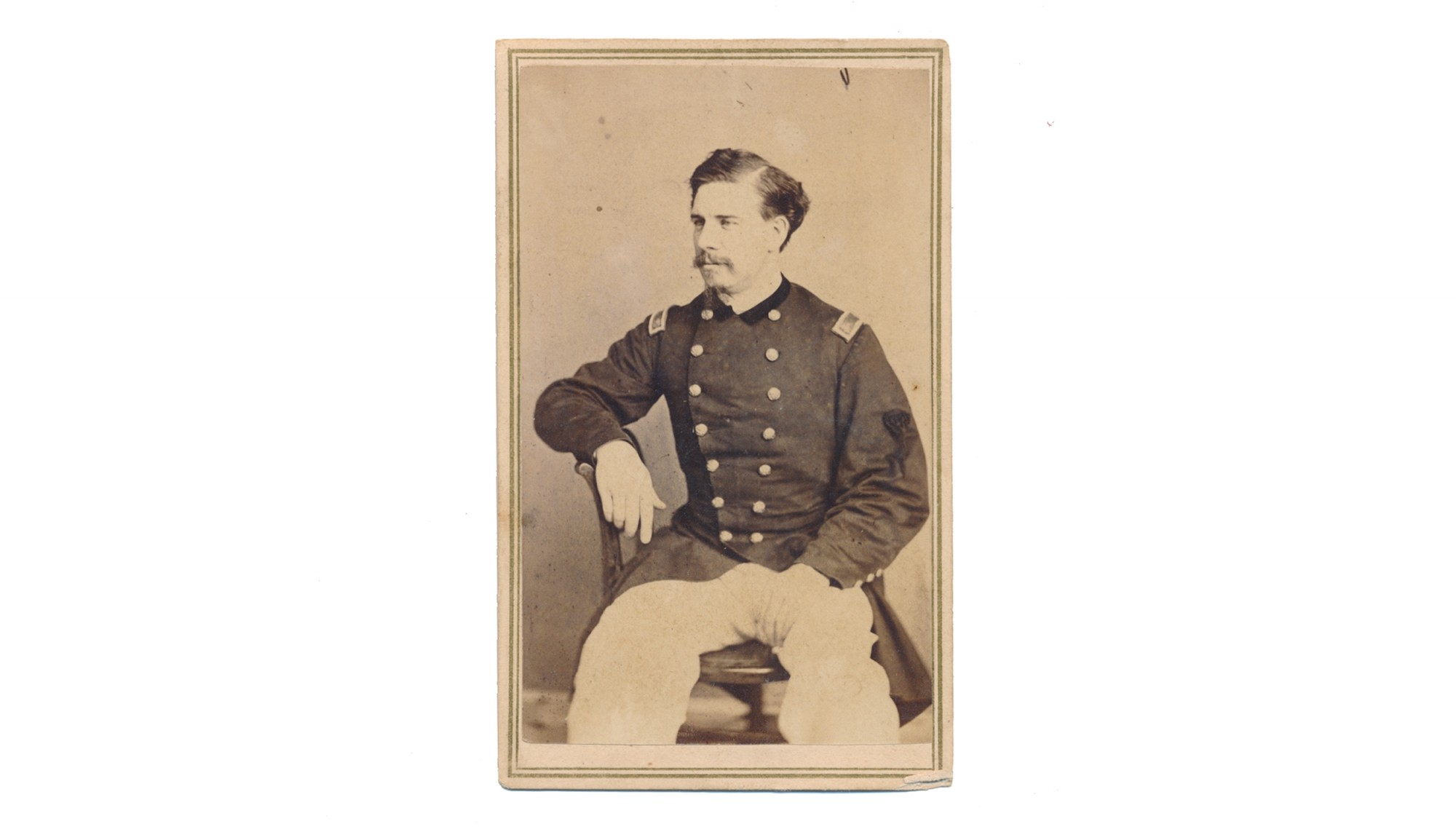 AUTOGRAPHED CDV OF JAMES ROWAN O'BEIRNE, 37TH NY INFANTRY, 22ND VETERAN RESERVES CORPS, MEDAL OF HONOR RECIPIENT
