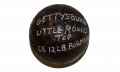 "U.S. 4.52"" 12-LB SPHERICAL SHELL WITH ITS BORMANN FUSE RECOVERED FROM THE DAVID PLANK FARM ON LITTLE ROUND TOP, GETTYSBURG – GEISELMAN COLLECTION"