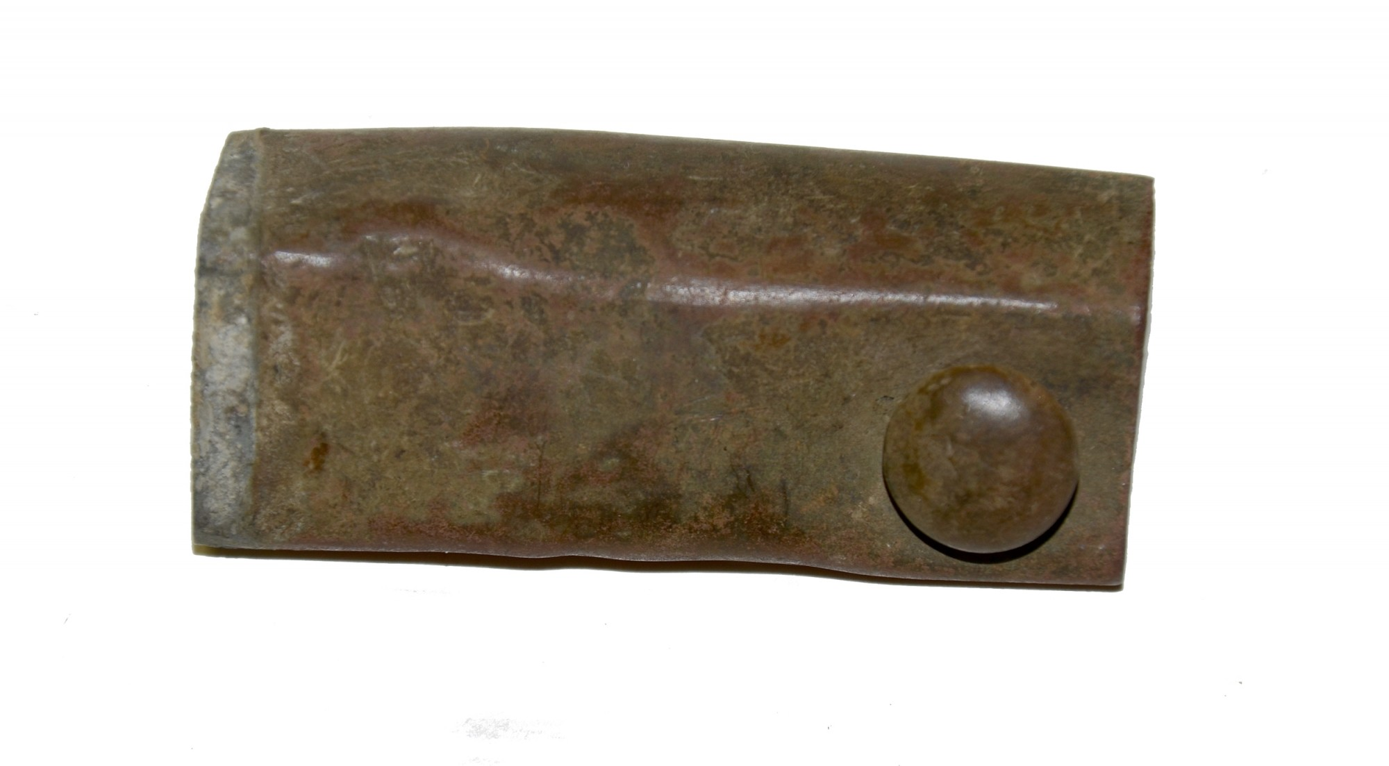 US MODEL 1828 BAYONET SCABBARD THROAT RECOVERED AT THE ROSE FARM, GETTYSBURG