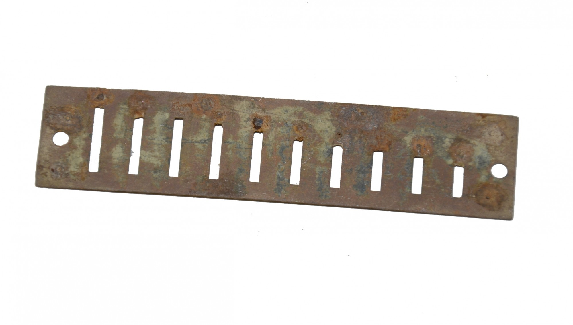SECTION OF A HARMONICA RECOVERED AT THE ROSE FARM, GETTYSBURG