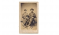 CDV FULL SEATED VIEW OF A PAIR OF OFFICERS FROM THE 205TH PENNSYLVANIA INFANTRY