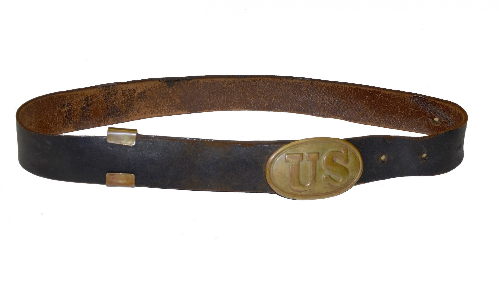 ARSENAL MARKED US PATTERN 1839 ENLISTEDMAN'S BELT PLATE AND BELT
