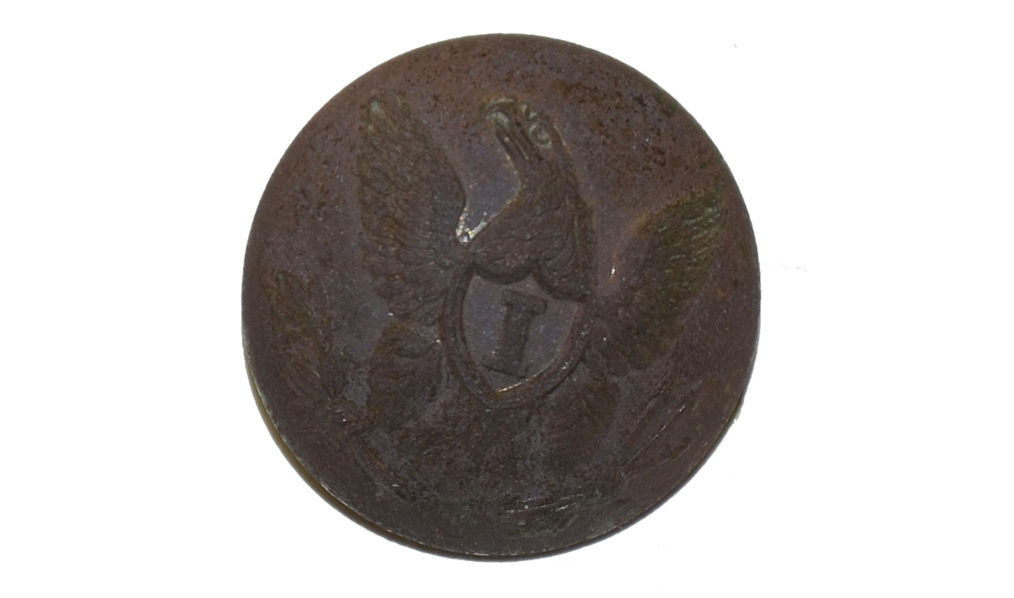 "UNION GENERAL SERVICE EAGLE ""I"" COAT BUTTON FROM THE MAC MASON COLLECTION"