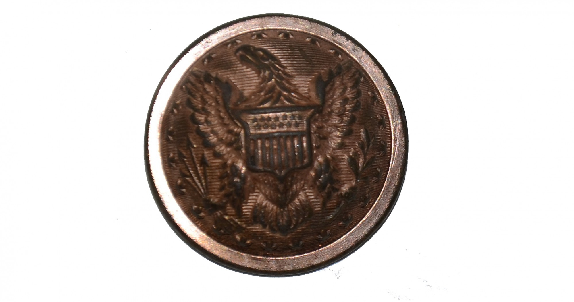 UNION STAFF OFFICER'S COAT BUTTON FROM THE MAC MASON COLLECTION