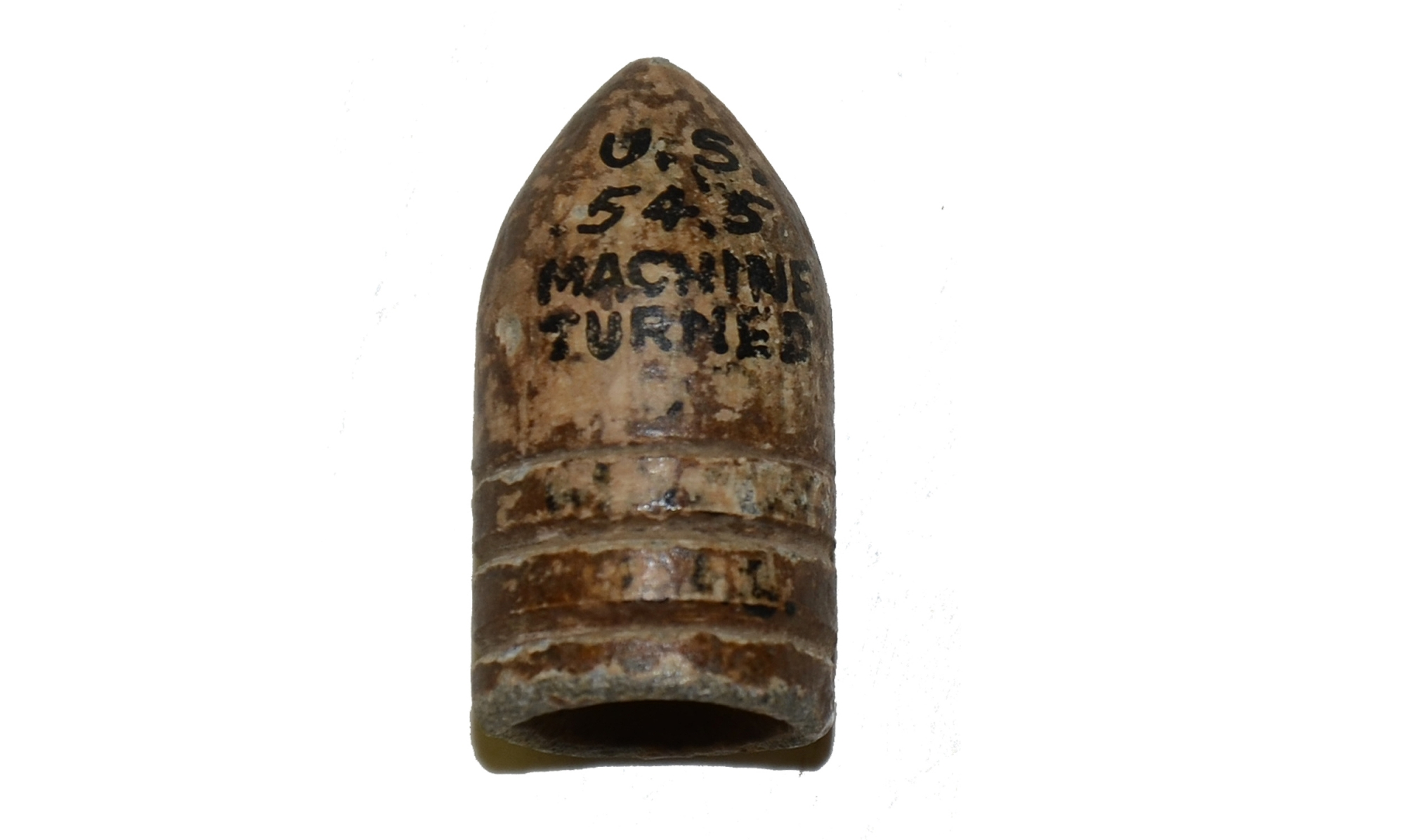 U.S. .54 MACHINE TURNED BULLET FROM THE MAC MASON COLLECTION