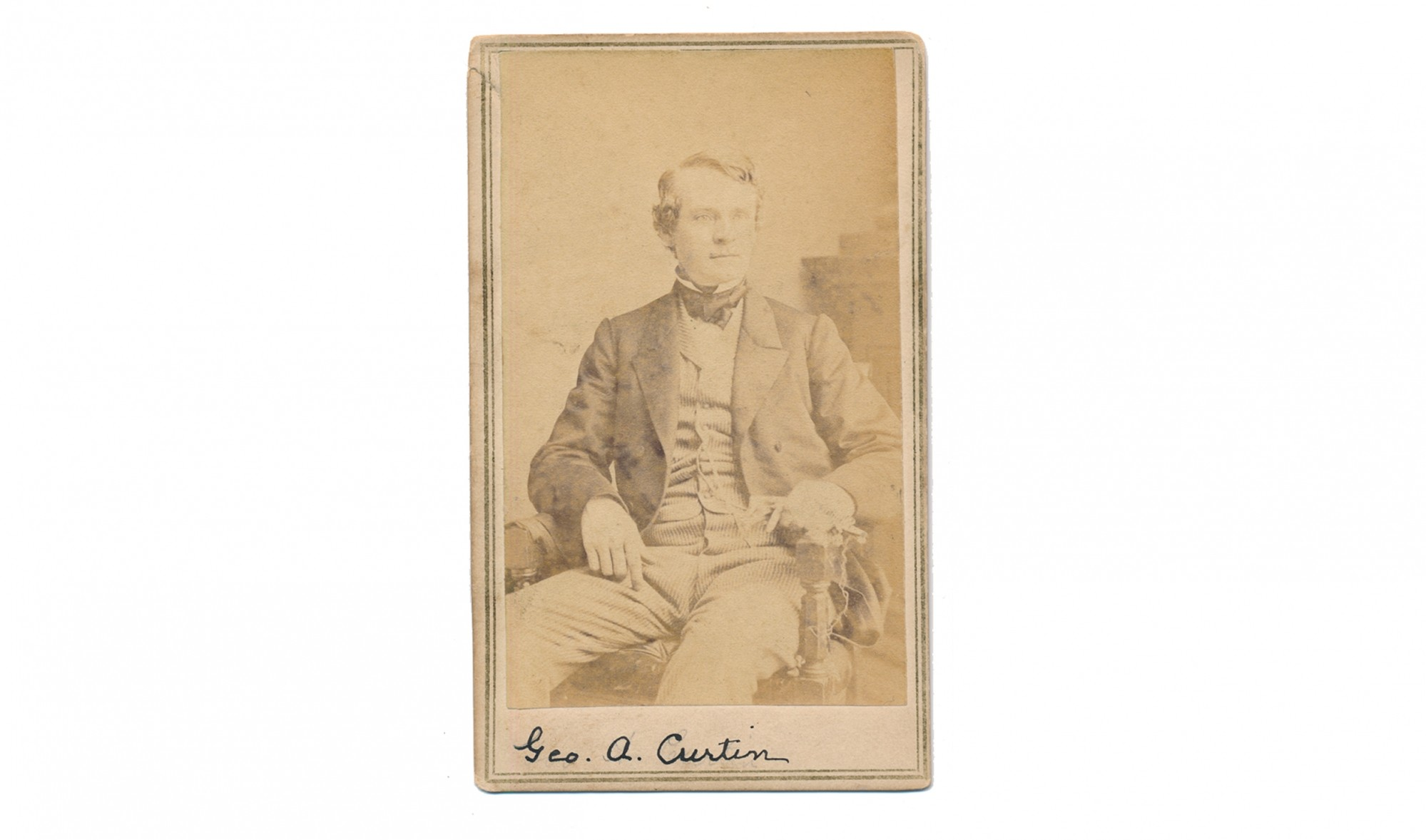 CDV OF ANDREW CURTIN, GOVERNOR OF PENNSYLVANIA