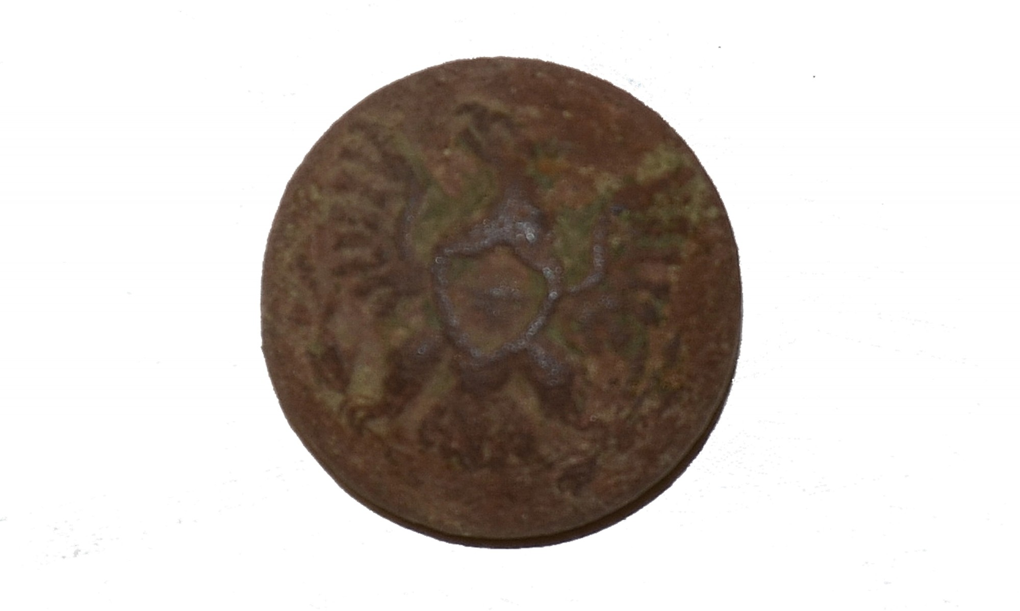 US GENERAL SERVICE EAGLE CUFF BUTTON RECOVERED ON THE KLINGEL FARM, GETTYSBURG