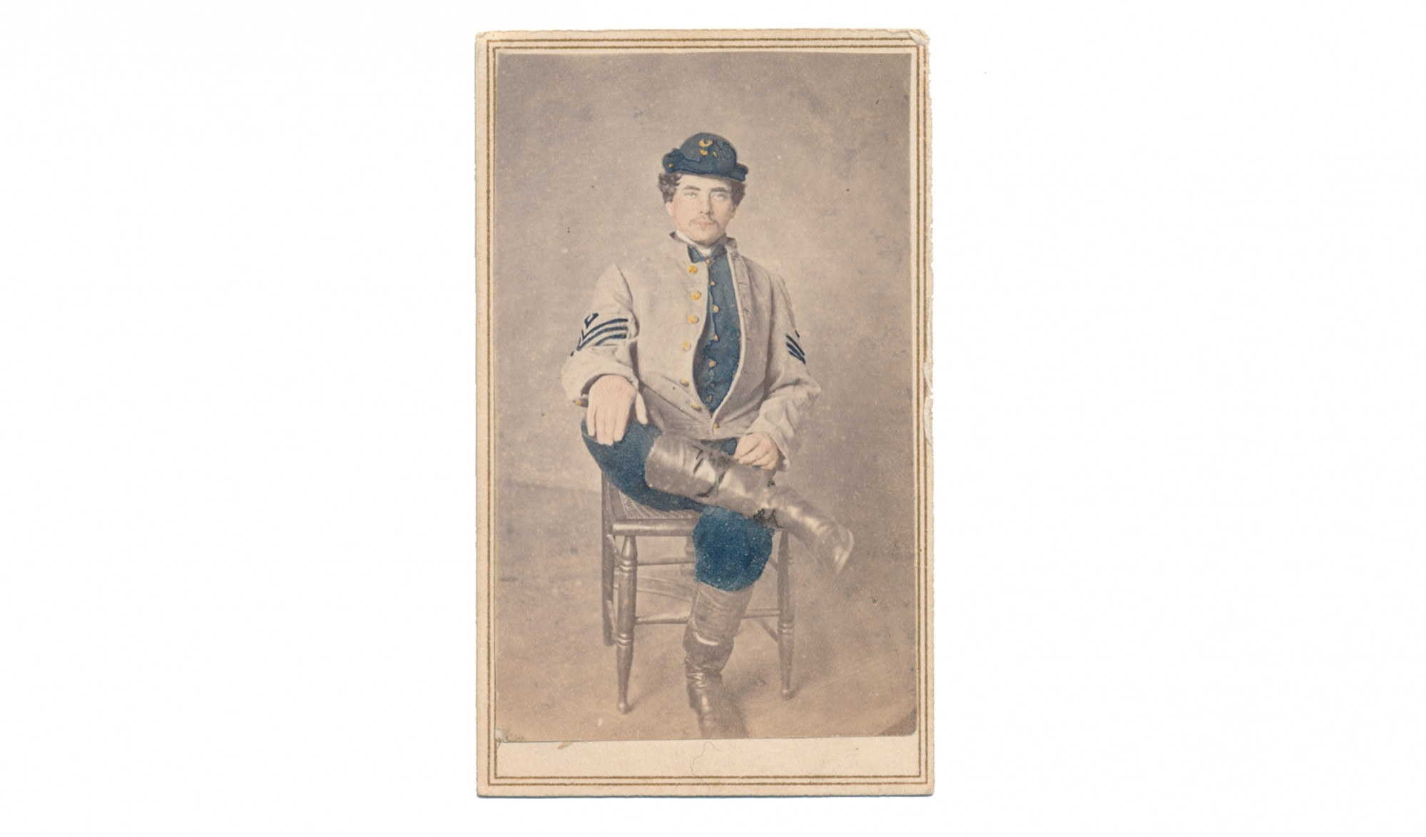 CDV OF UNIDENTIFIED CONFEDERATE SOLDIER