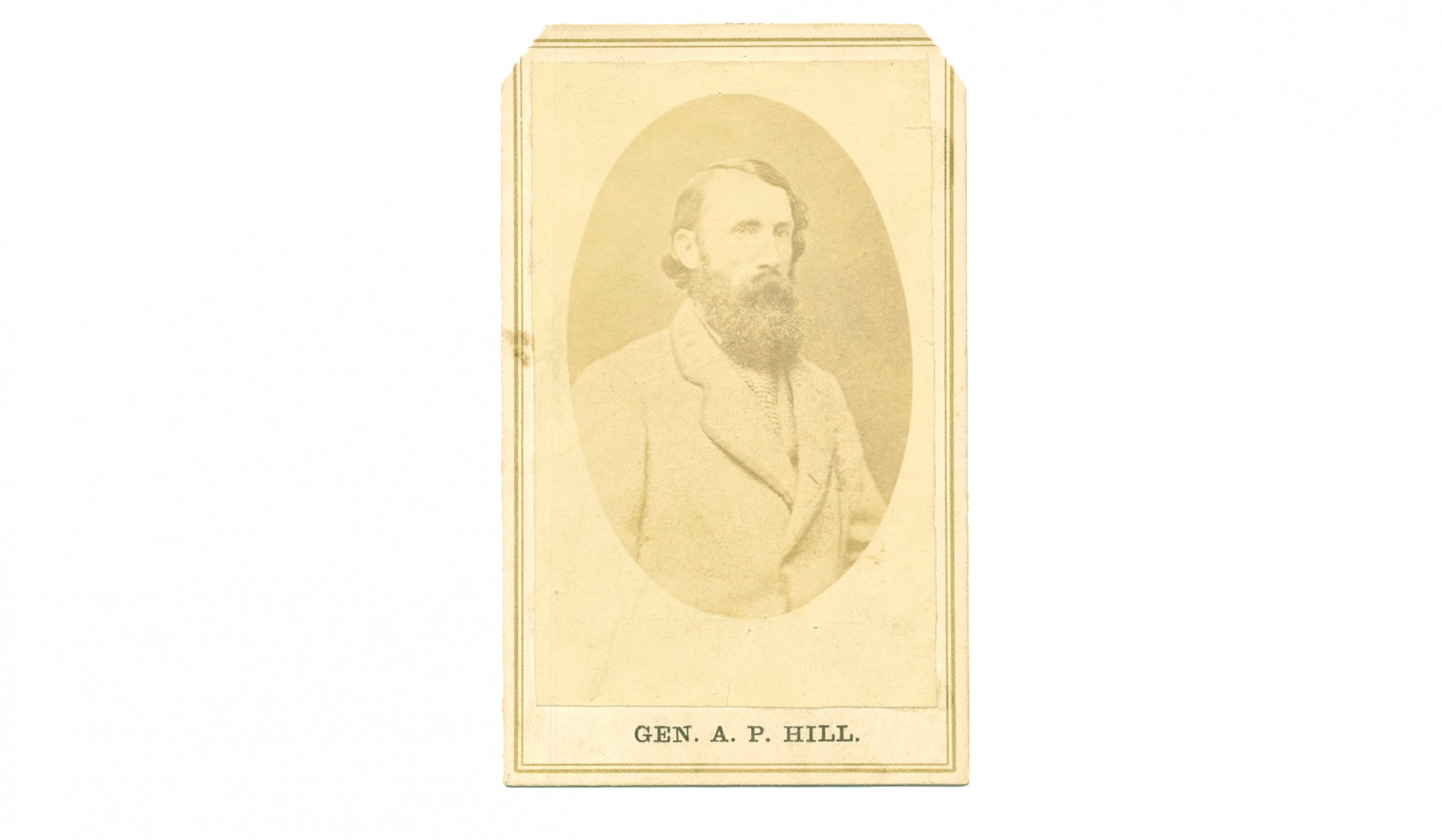 CDV OF CONFEDERATE GENERAL A. P. HILL
