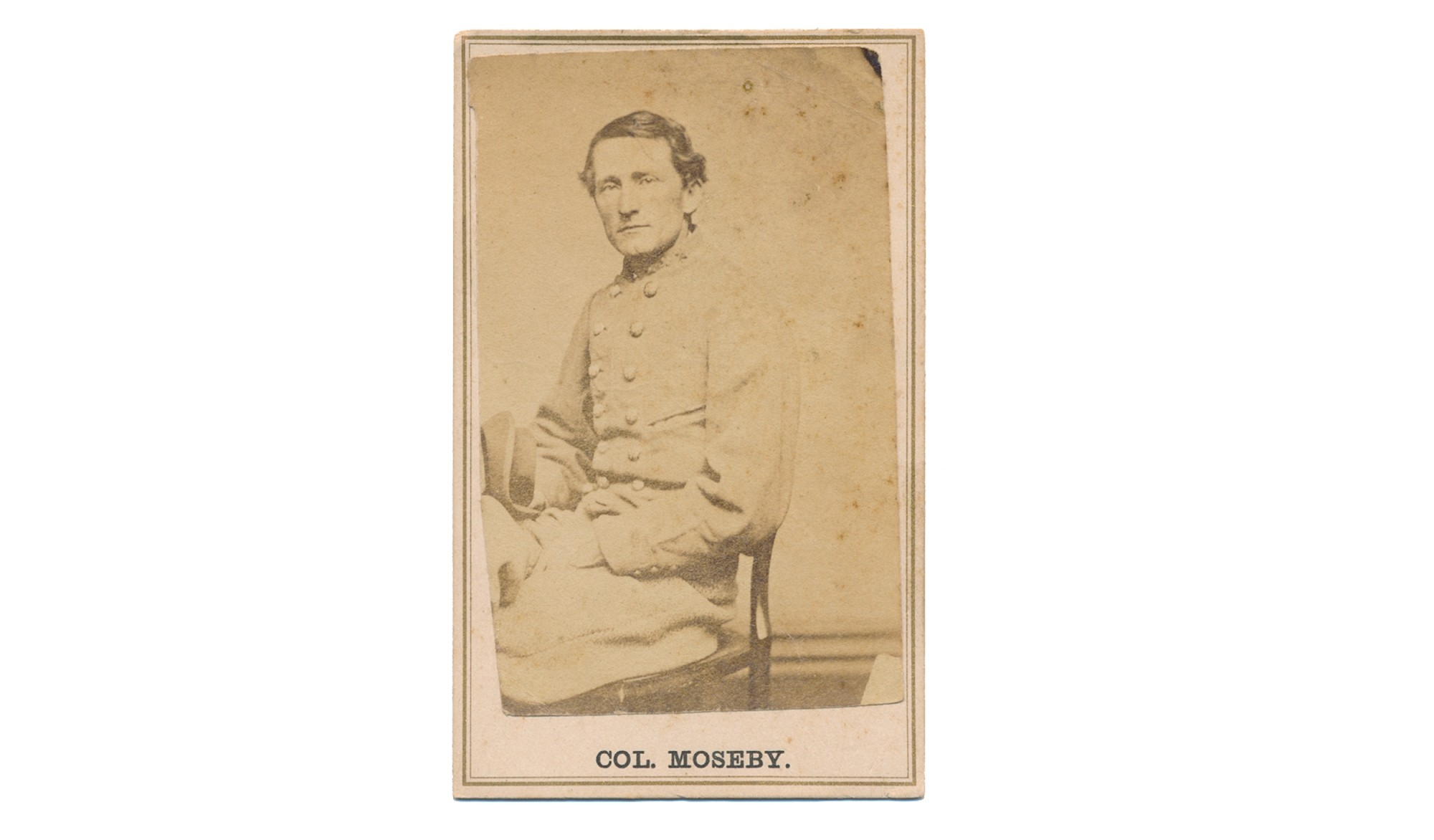 CDV OF CONFEDERATE COLONEL JOHN SINGLETON MOSBY